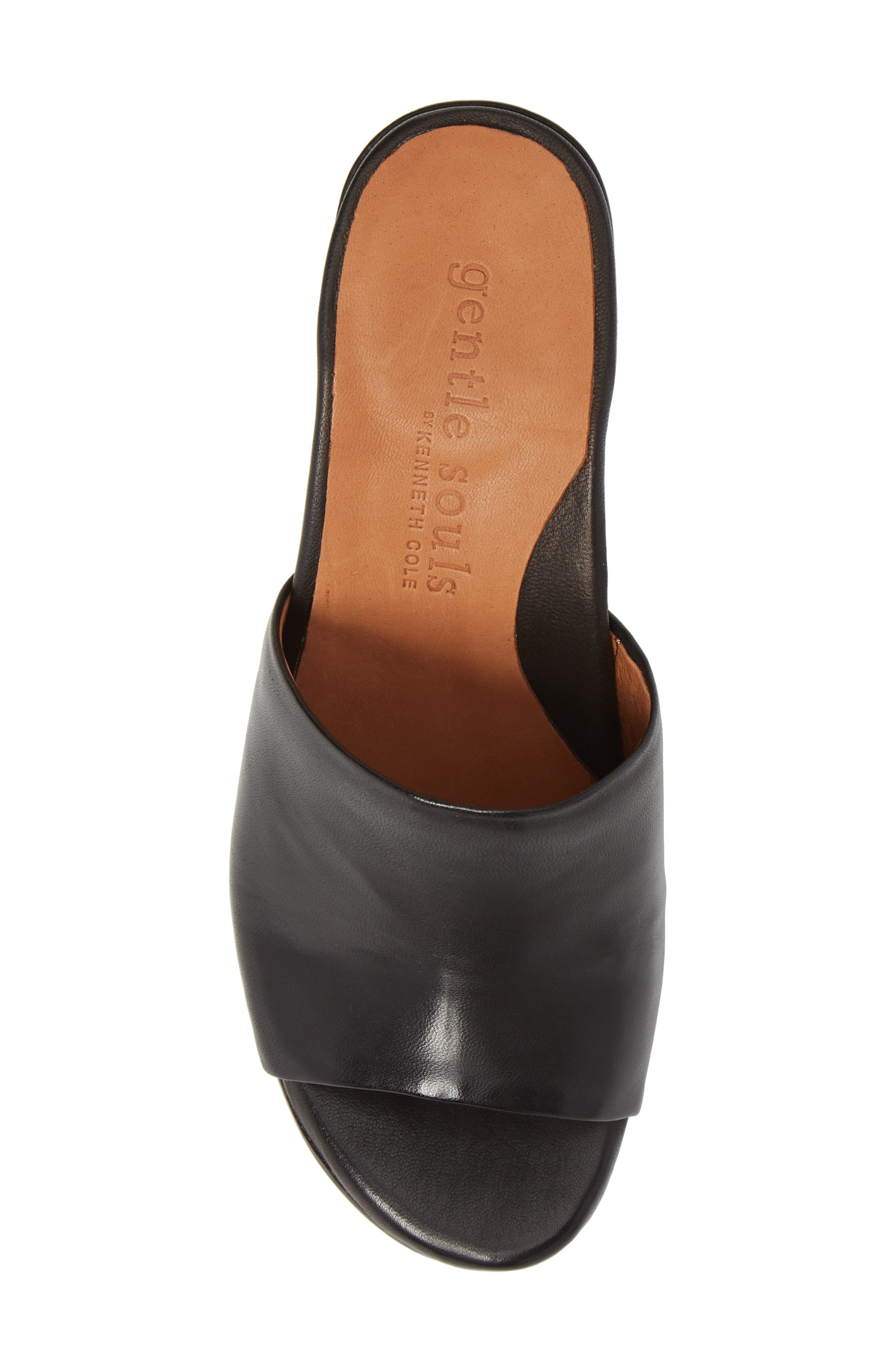 by Kenneth Cole Chantel Sandal,                             Alternate thumbnail 5, color,                             BLACK LEATHER