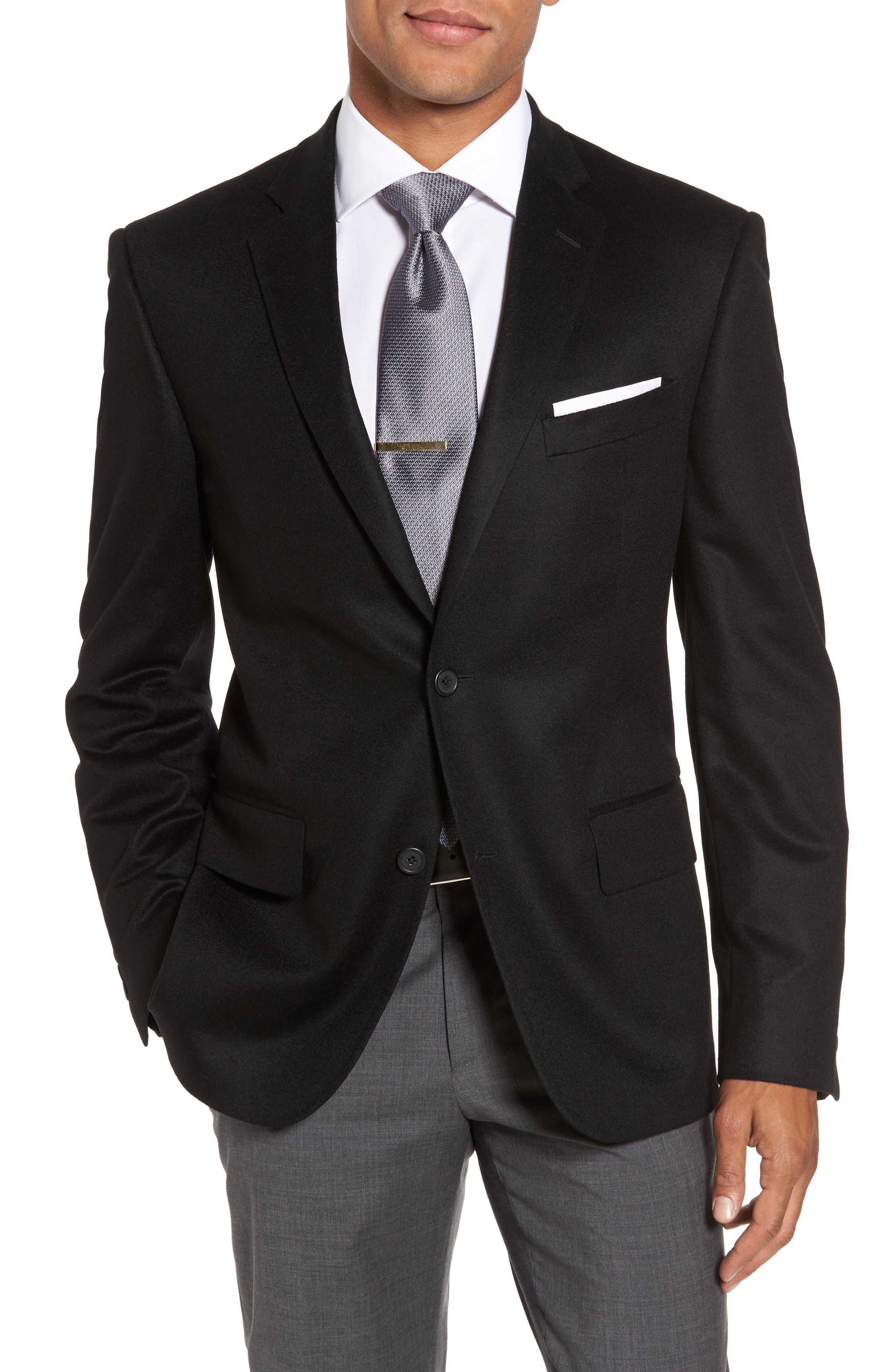 Classic Fit Cashmere Blazer,                         Main,                         color, 001