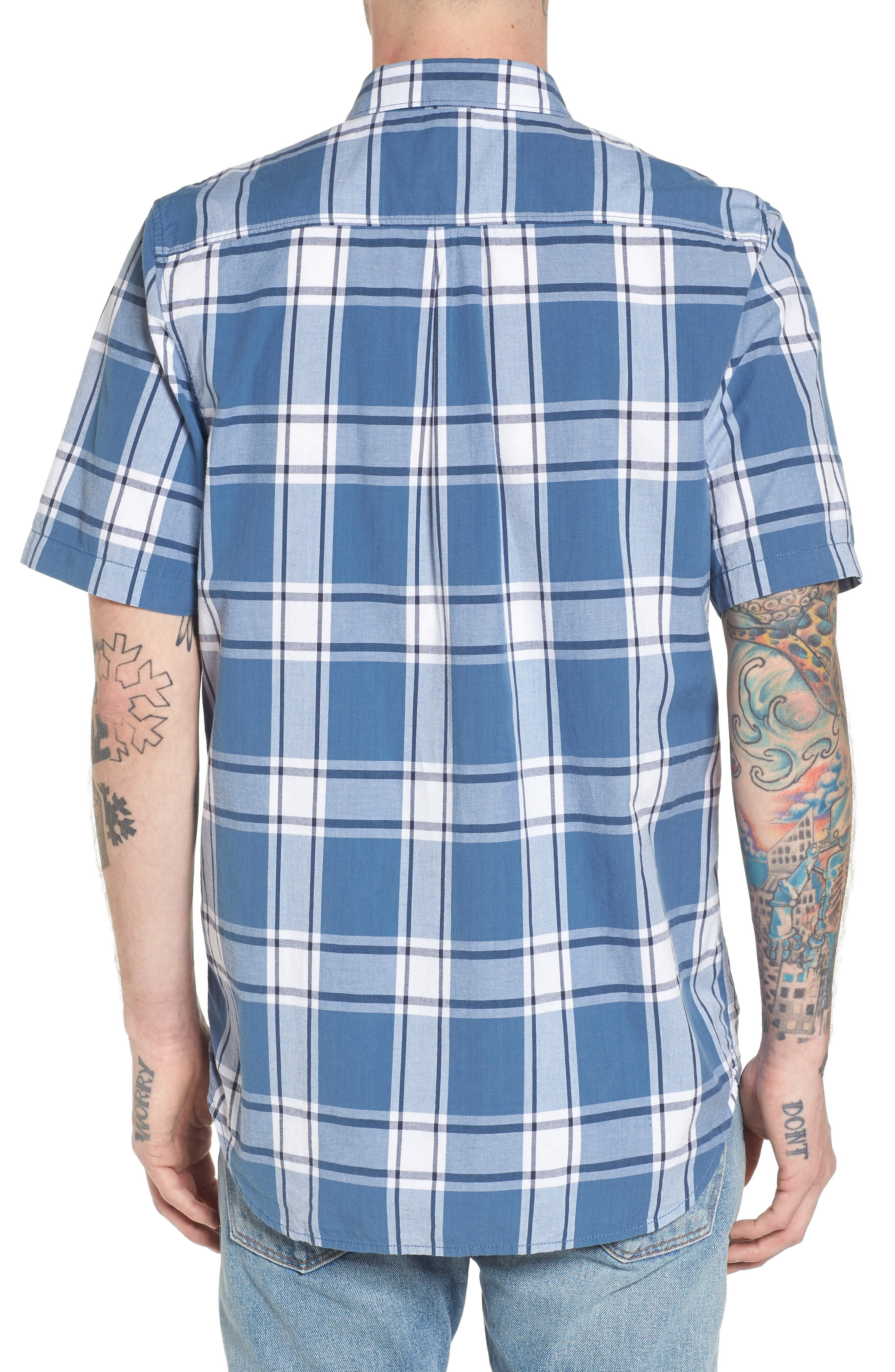 Mayfield Short Sleeve Plaid Shirt,                             Alternate thumbnail 2, color,                             420