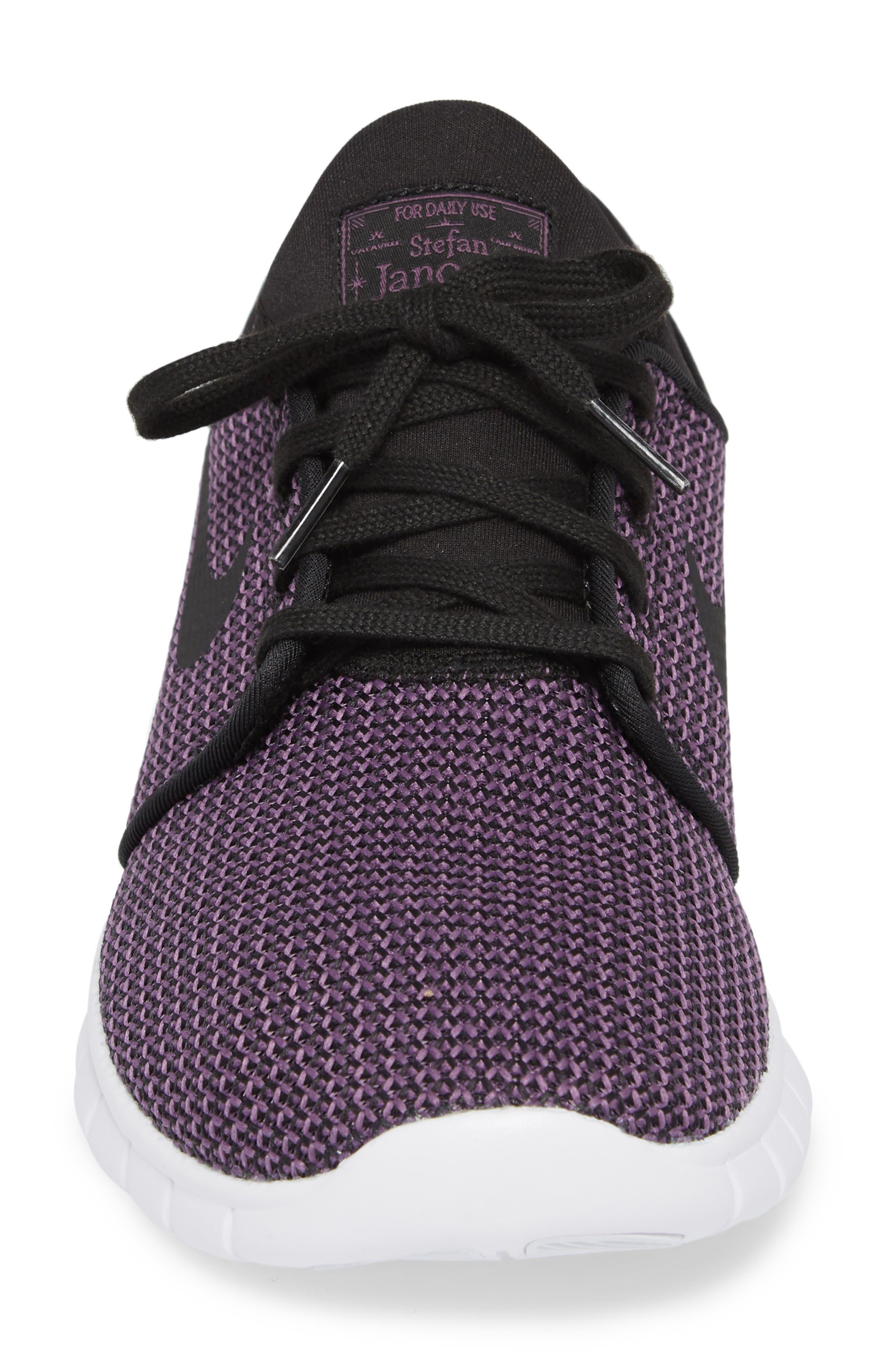 'Stefan Janoski - Max SB' Skate Shoe,                             Alternate thumbnail 5, color,                             BLACK/ PRO PURPLE/ WHITE