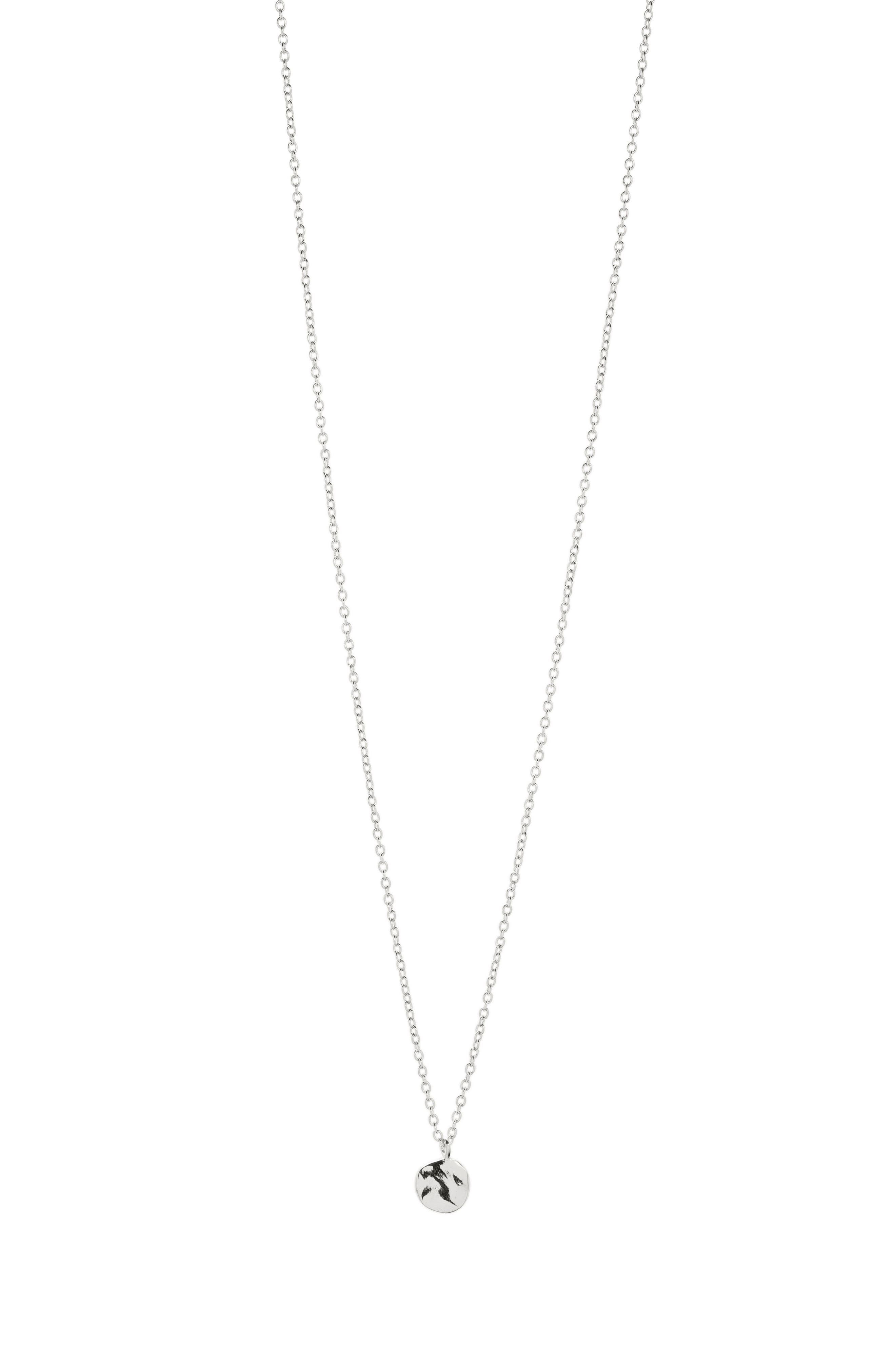 Chloe Small Pendant Necklace,                             Alternate thumbnail 4, color,                             SILVER