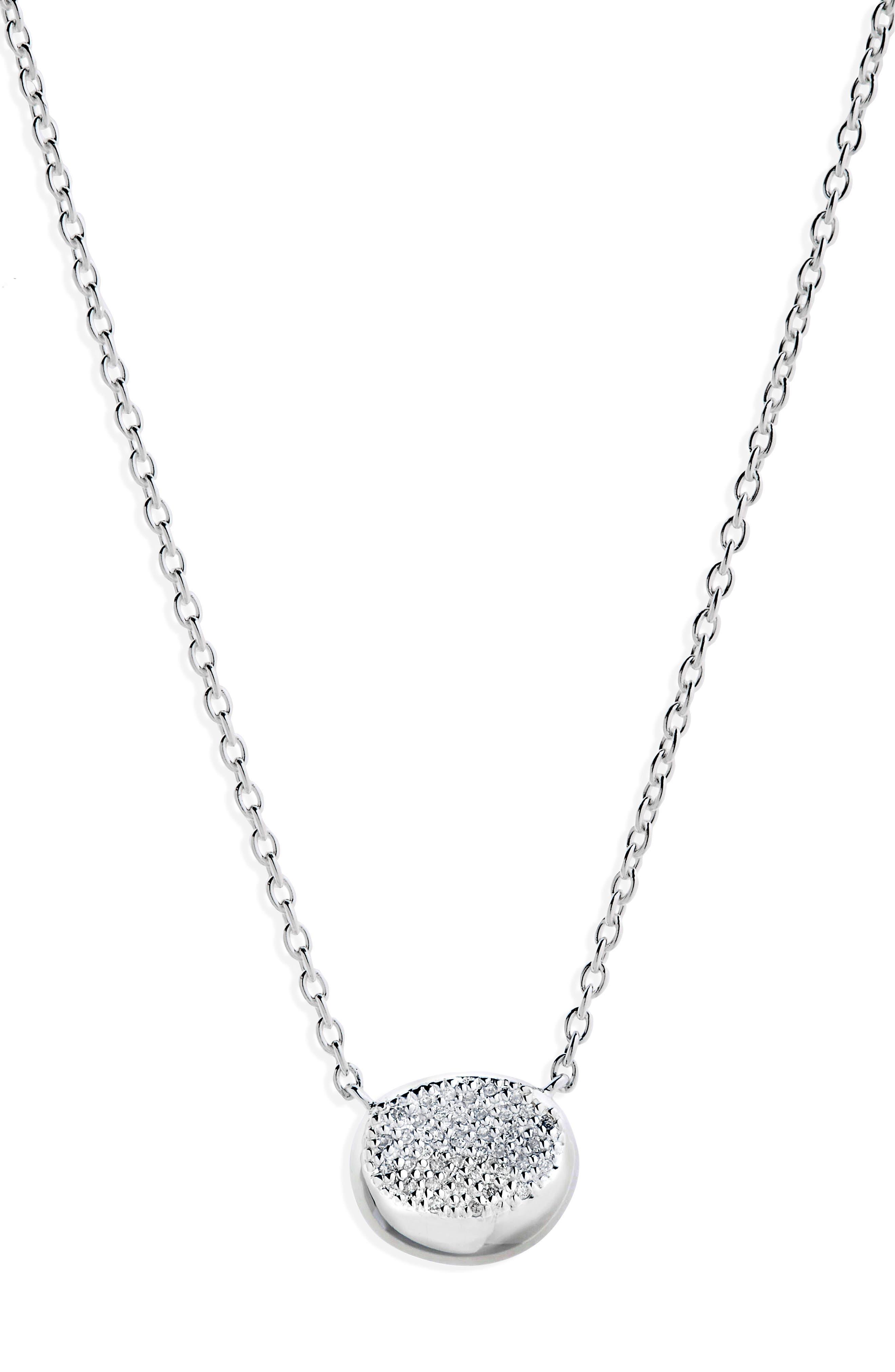 Onda Diamond Pendant Necklace,                             Main thumbnail 1, color,                             040