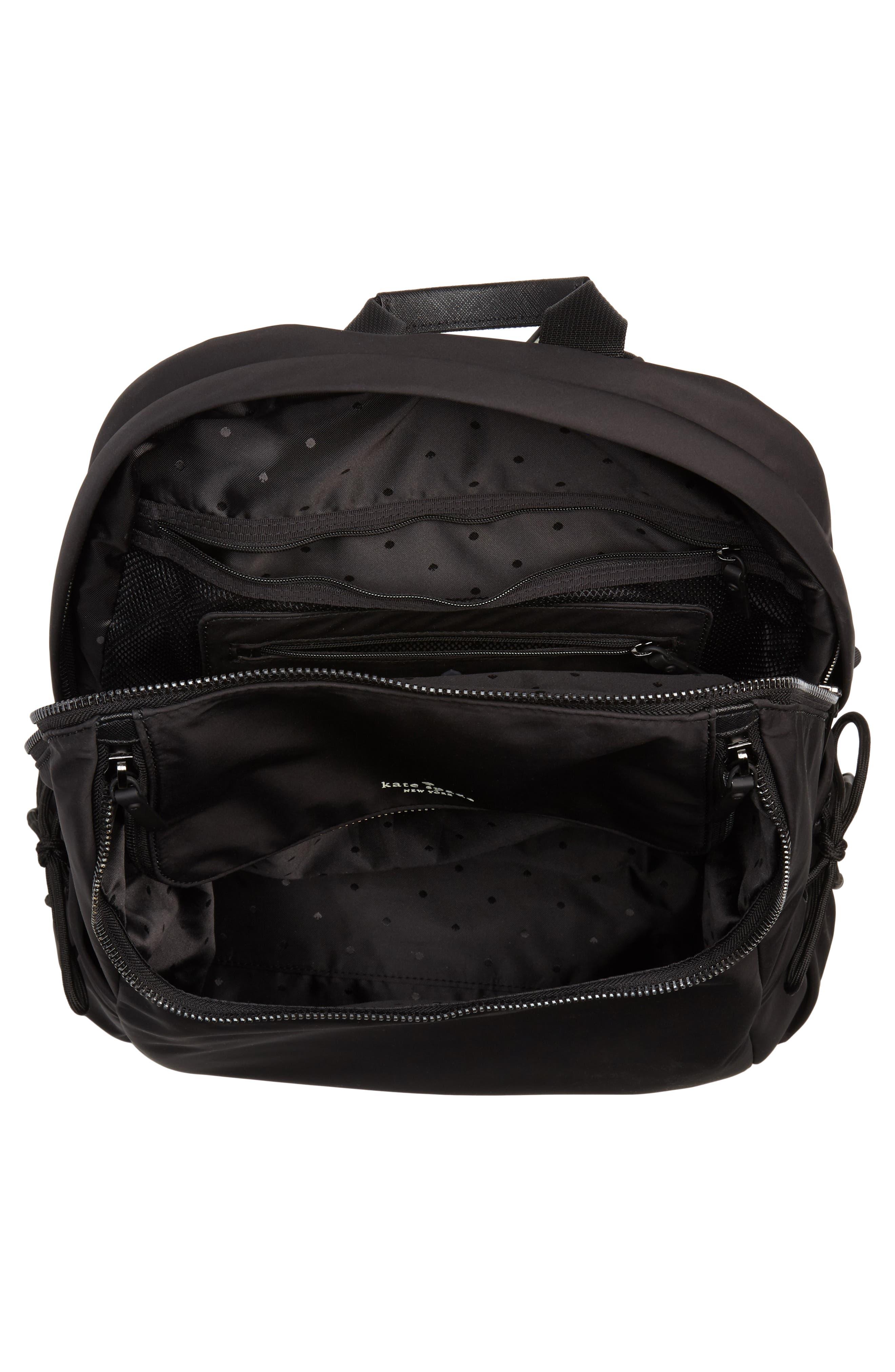 that's the spirit nylon backpack,                             Alternate thumbnail 4, color,                             BLACK