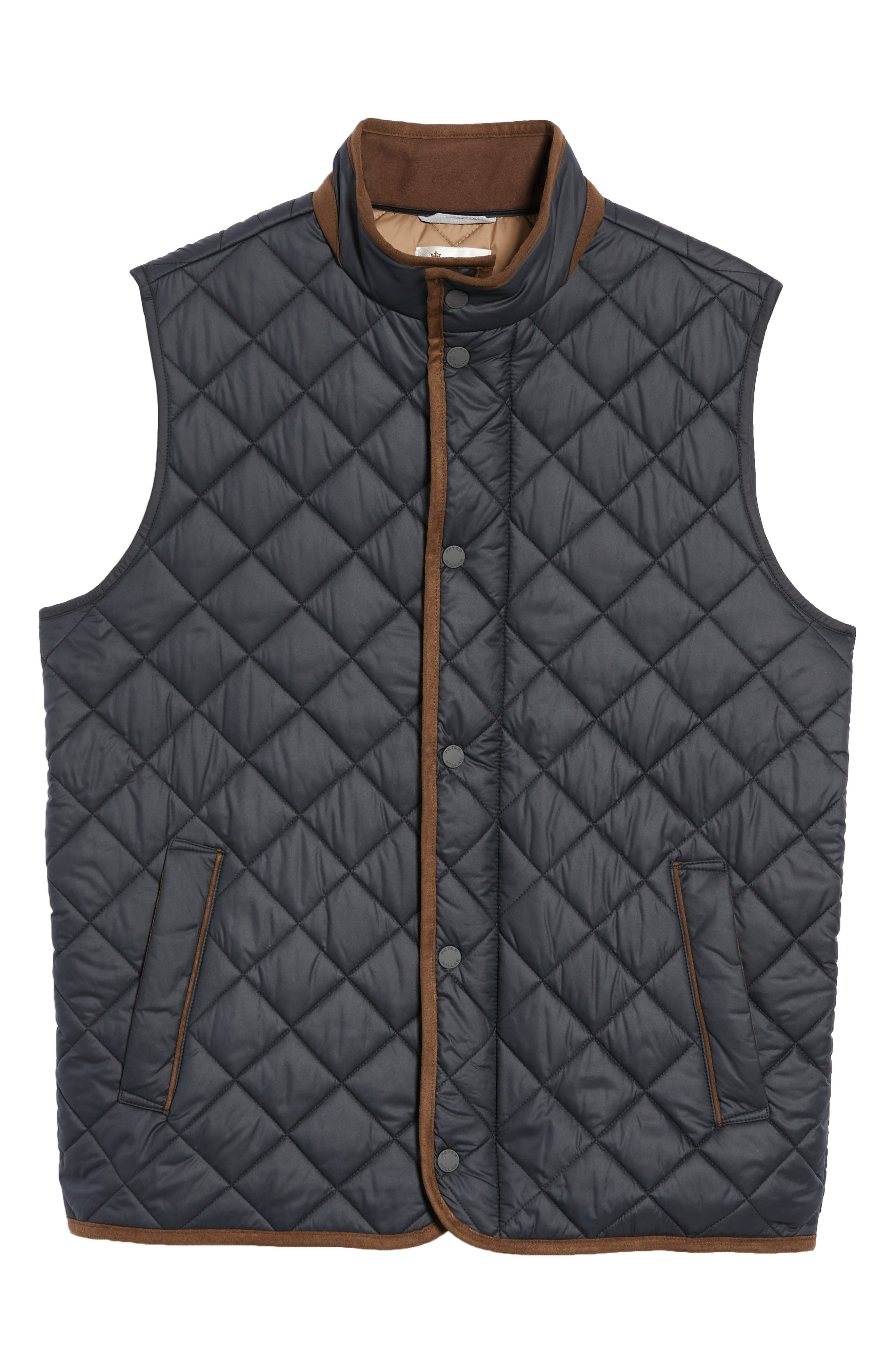Essex Quilted Vest,                             Alternate thumbnail 6, color,                             001