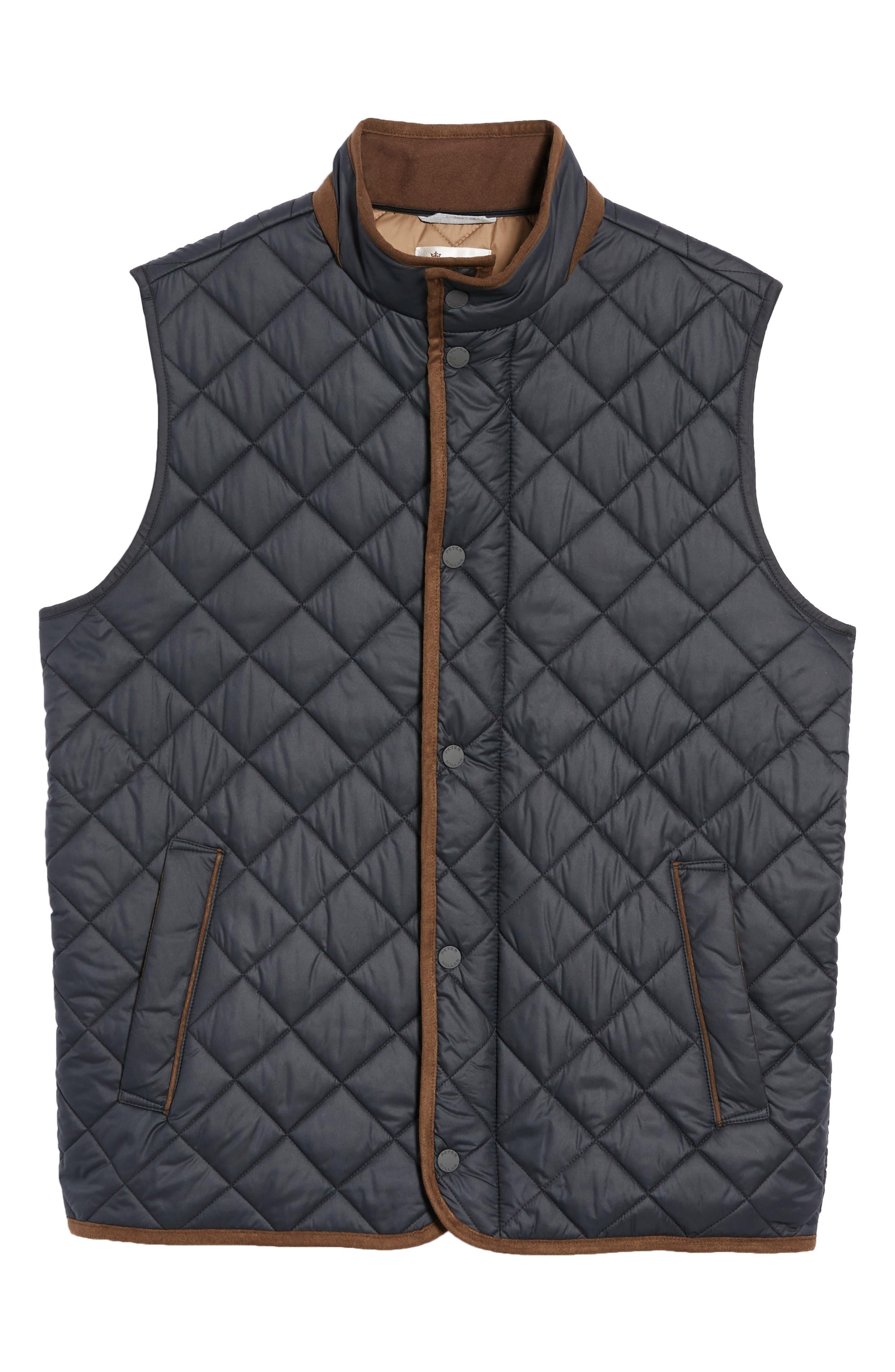 Essex Quilted Vest,                             Alternate thumbnail 5, color,                             BLACK / BLACK