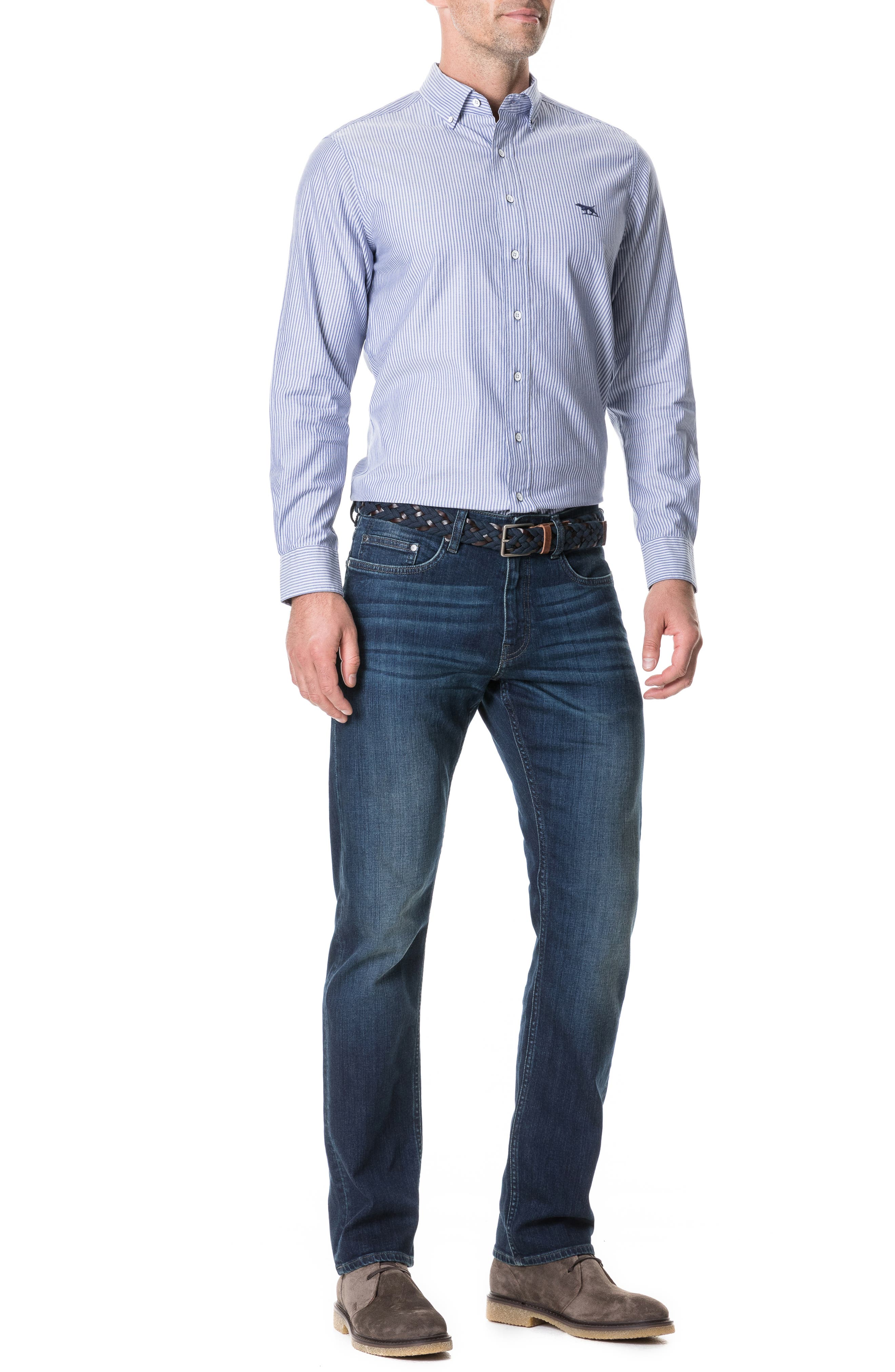 Barton Straight Leg Jeans,                             Alternate thumbnail 3, color,                             DENIM