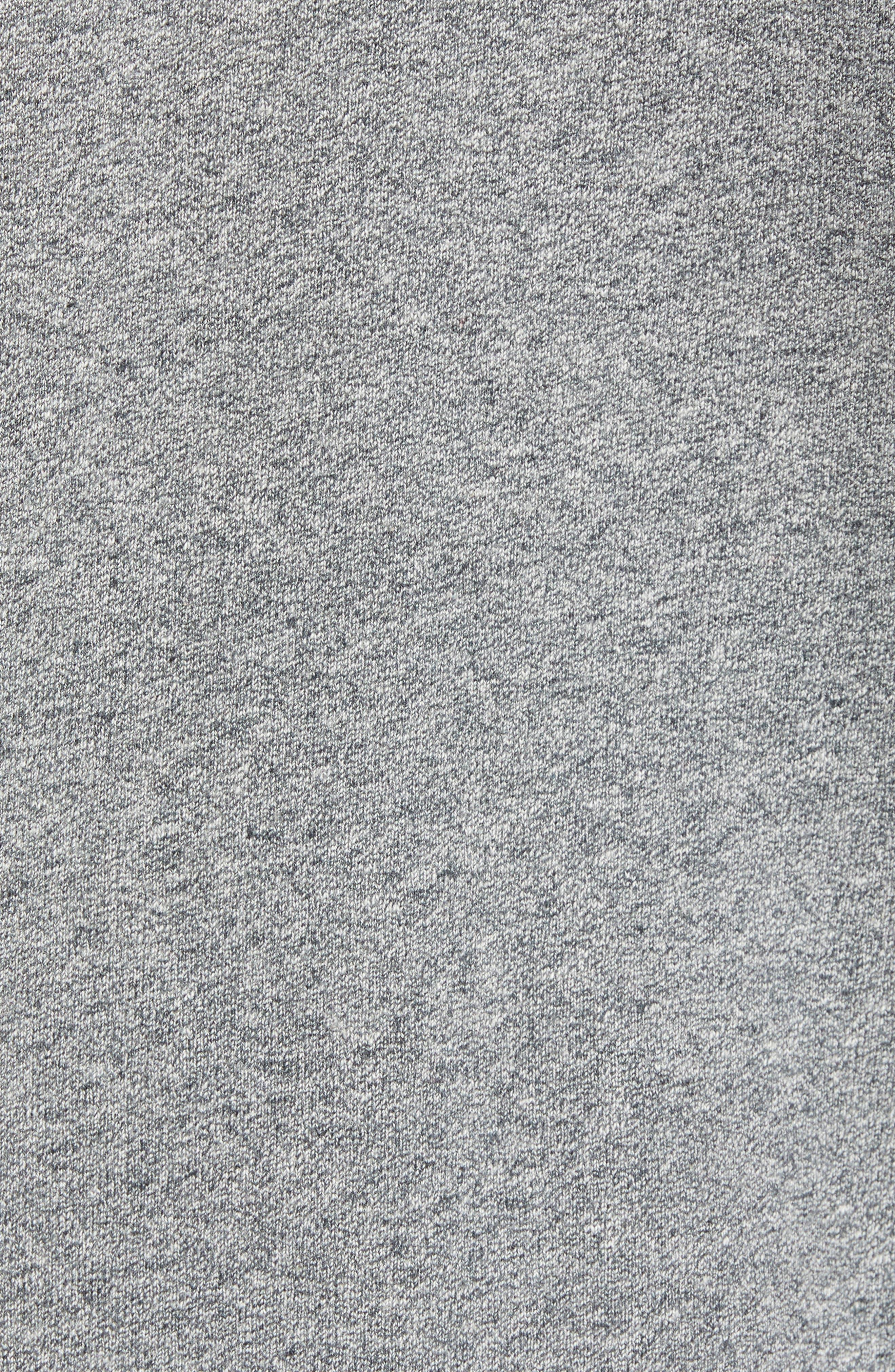 Regular Fit Hooded Zip Sweatshirt,                             Alternate thumbnail 5, color,                             HEATHER GREY