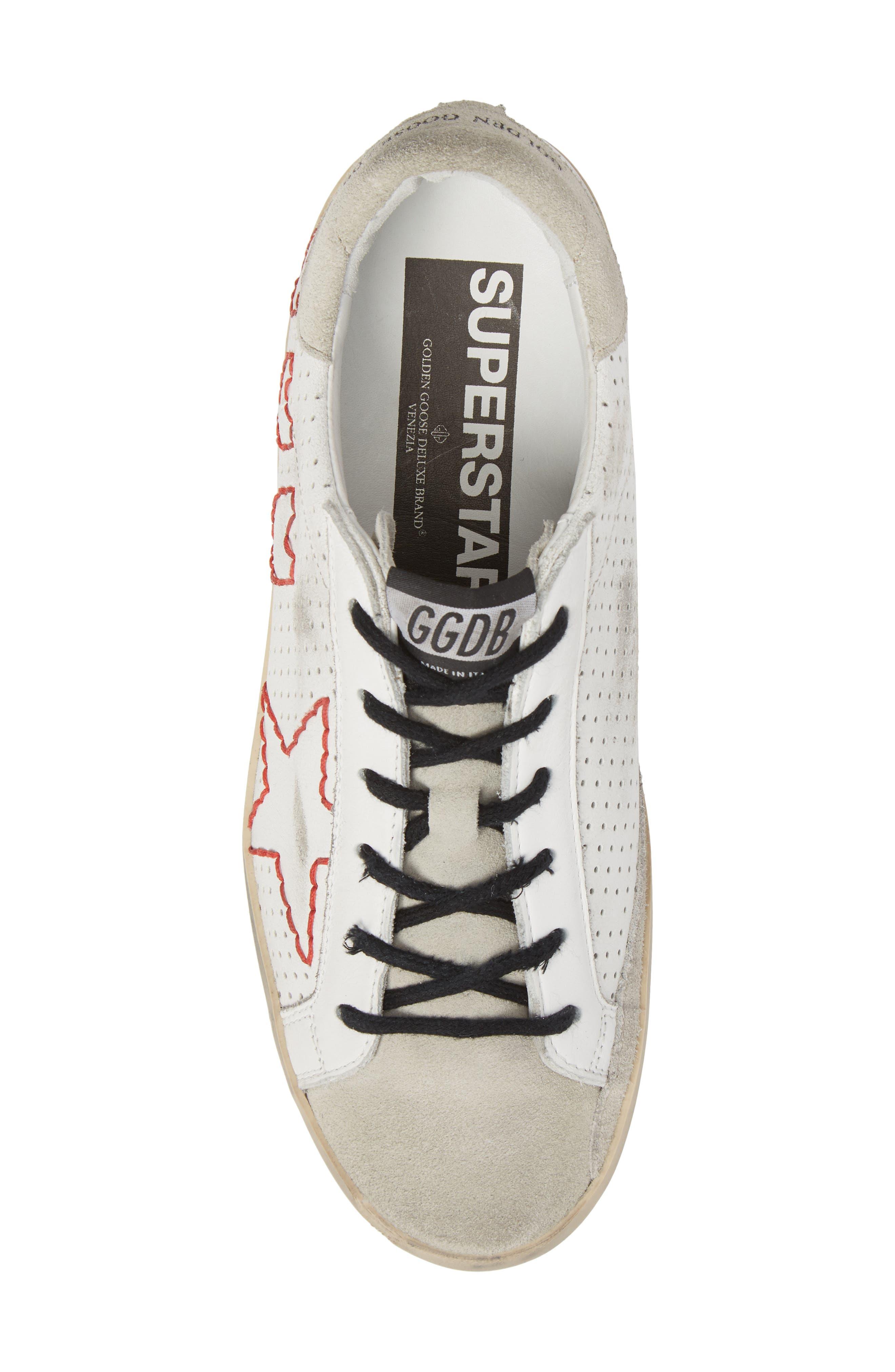 Superstar Heart Sneaker,                             Alternate thumbnail 5, color,                             100