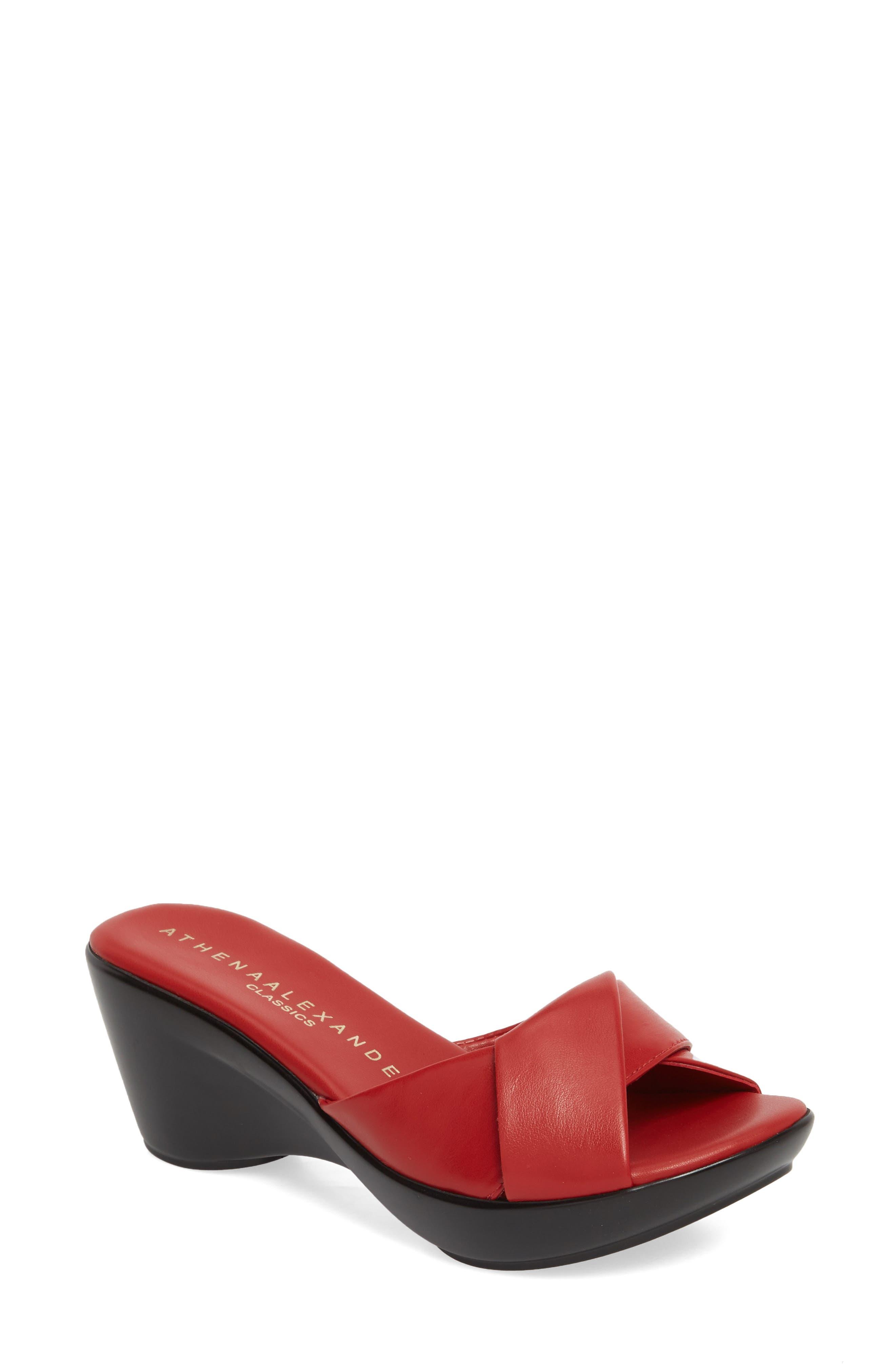 Athena Alexander Orlando Slide Sandal- Red