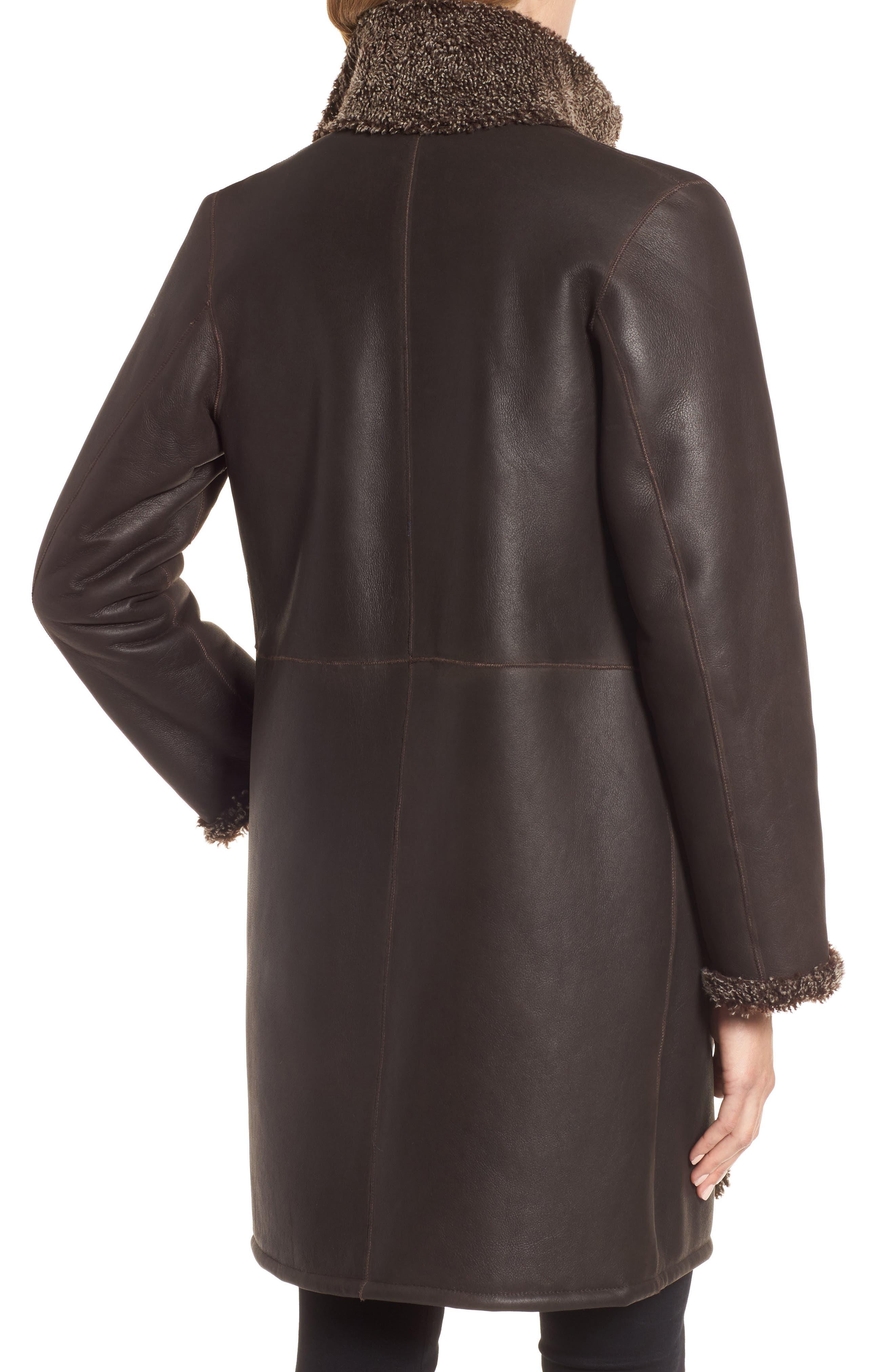 Reversible Genuine Shearling Coat,                             Alternate thumbnail 2, color,                             203
