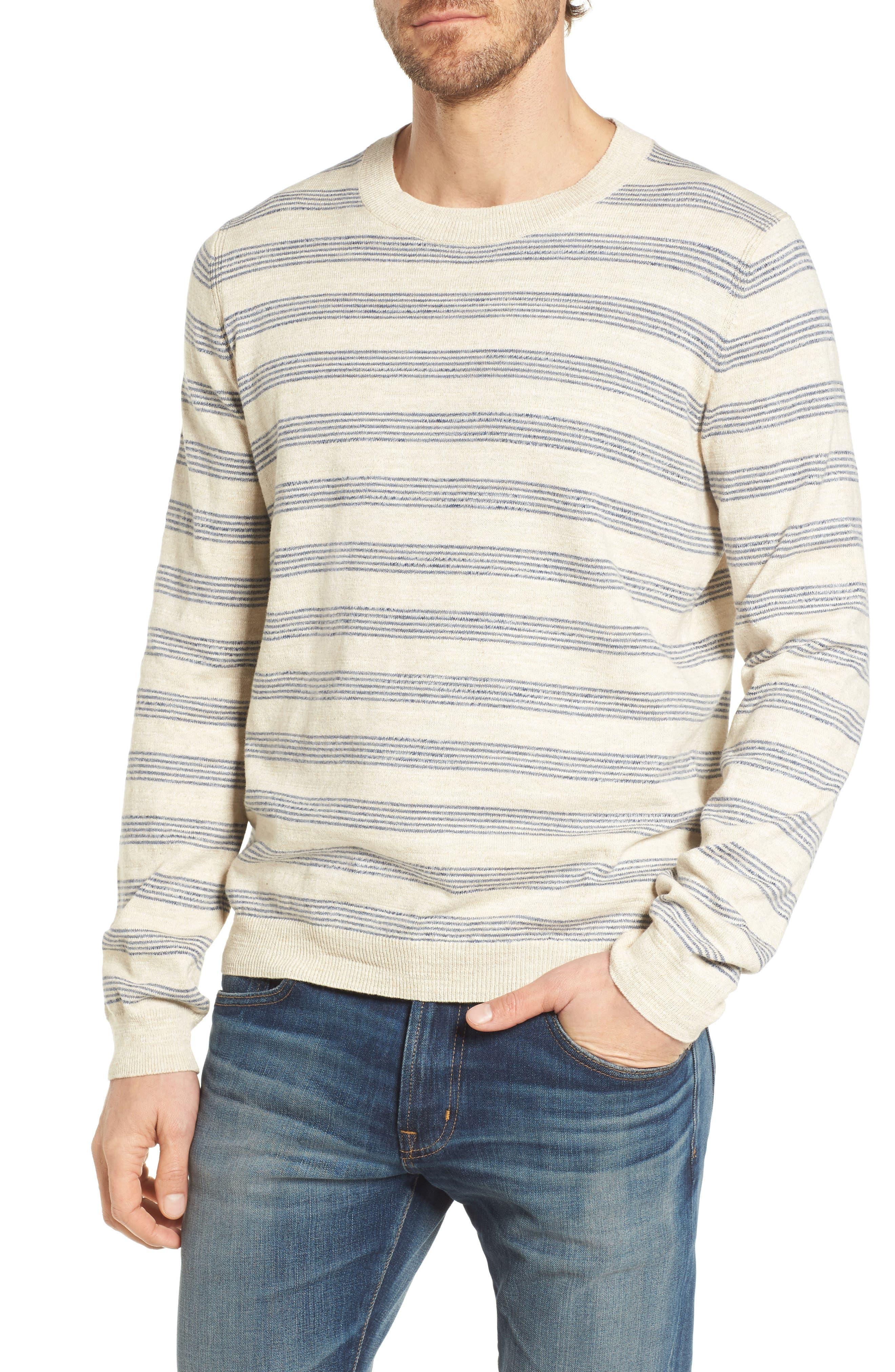 Stripe Cotton Sweater,                             Main thumbnail 1, color,                             900