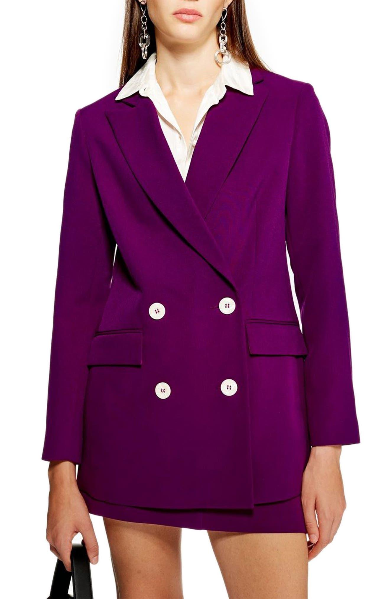 Eliza Suit Jacket,                         Main,                         color, PURPLE
