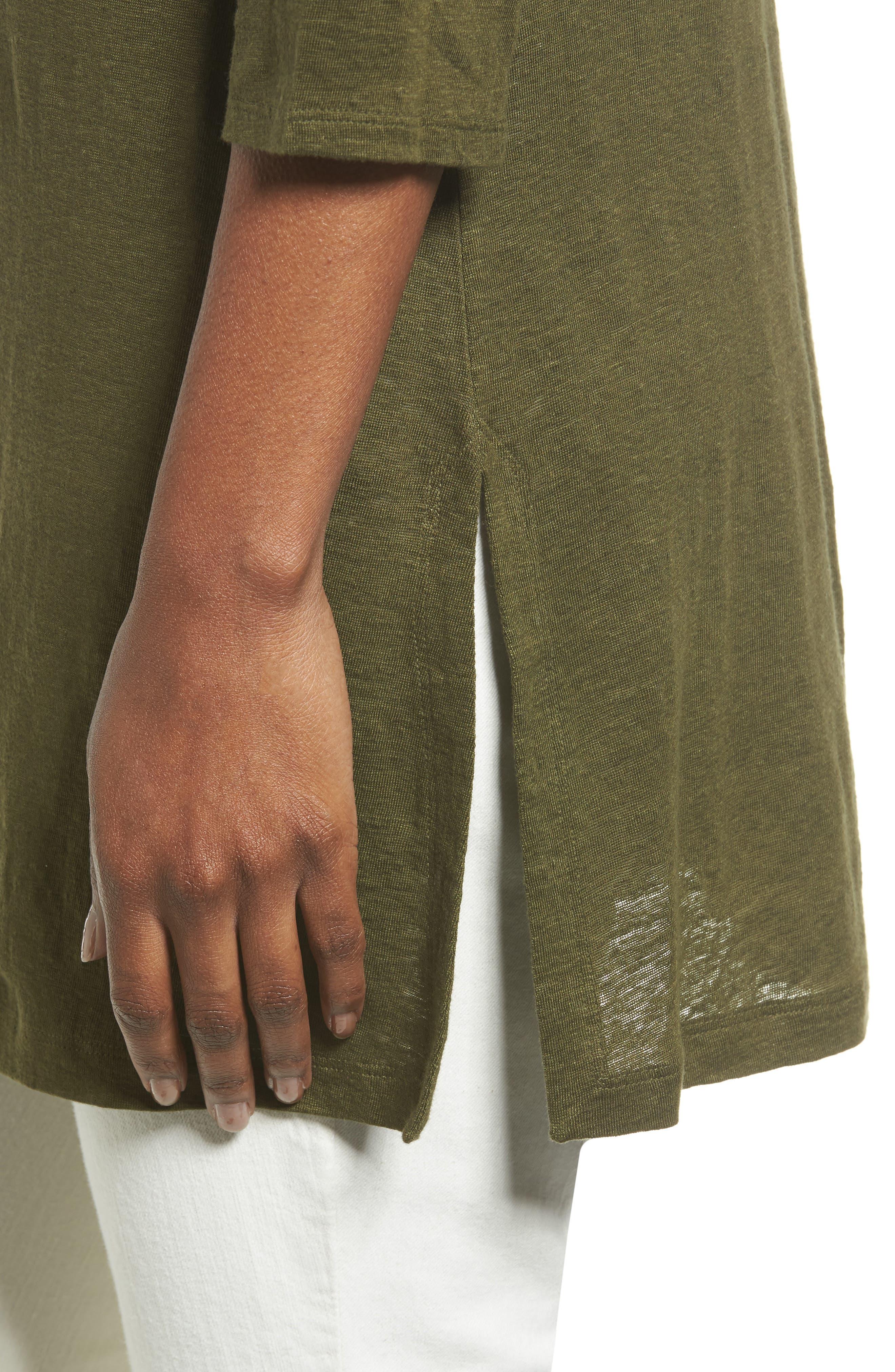Bateau Neck Organic Linen Tunic,                             Alternate thumbnail 52, color,
