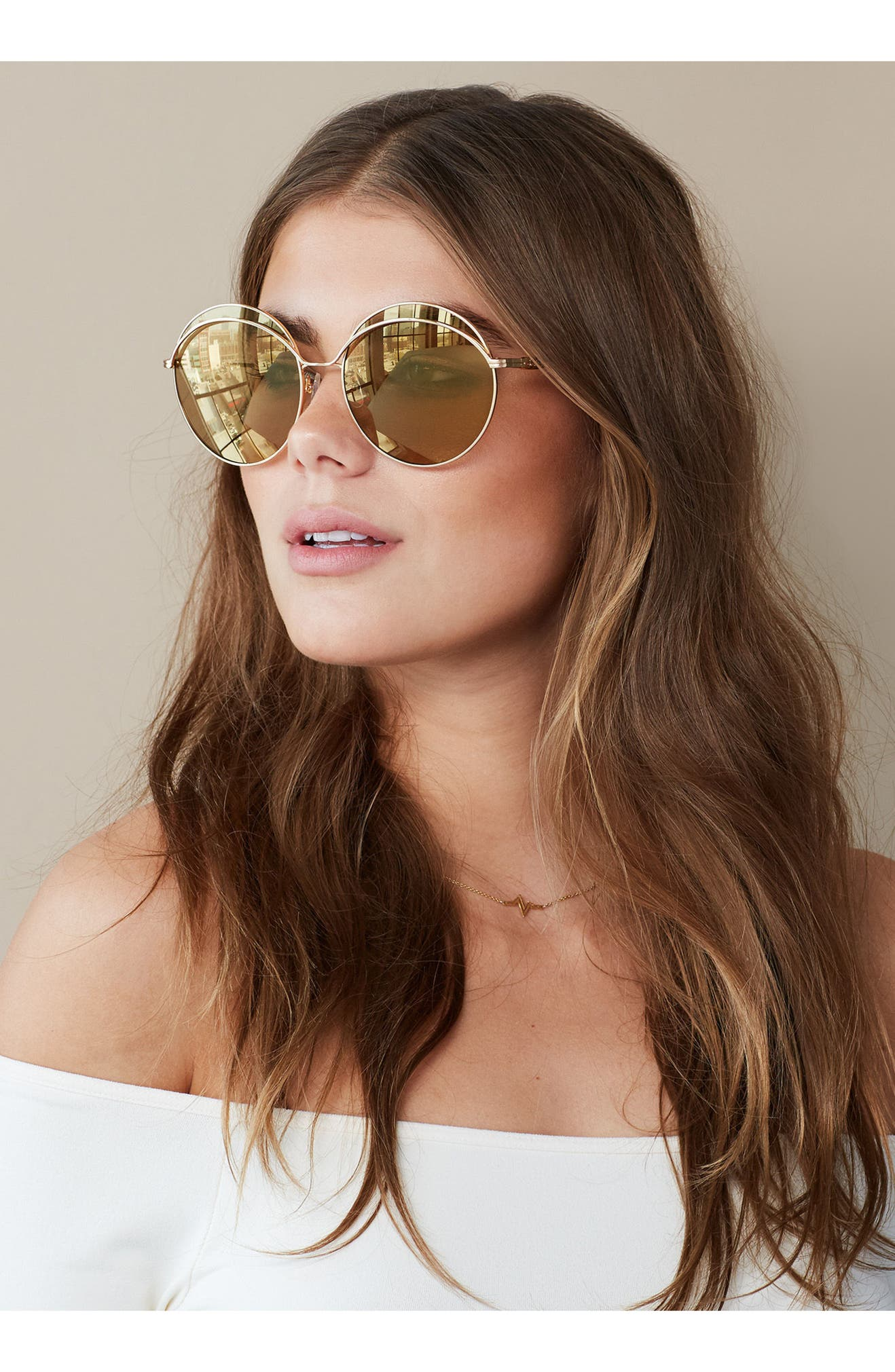 e97217c9b8 Sonix Oasis 63mm Round Sunglasses