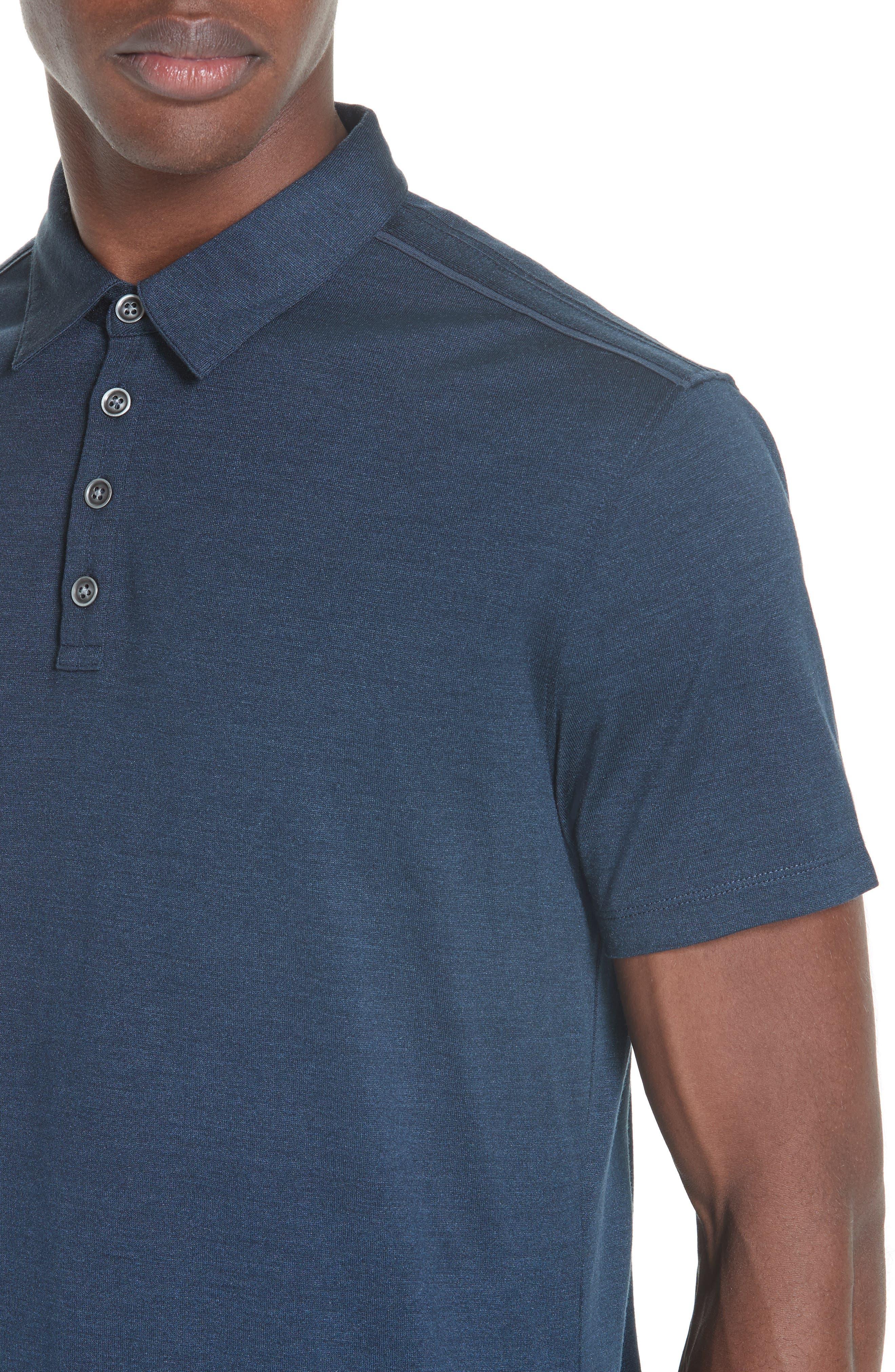 Hampton Silk & Cotton Polo,                             Alternate thumbnail 4, color,                             411