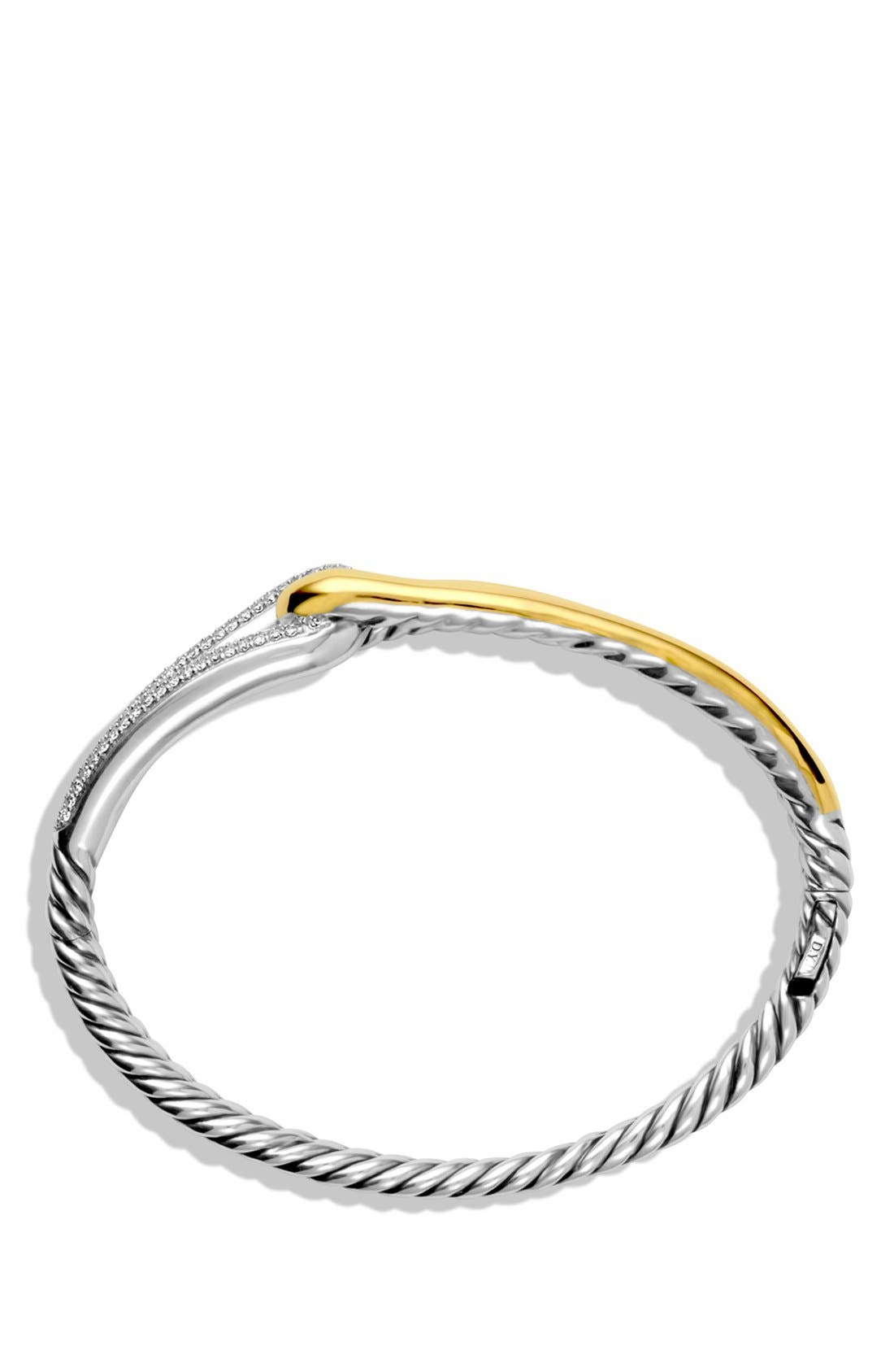 'Labyrinth' Single Loop Bracelet with Diamonds,                             Alternate thumbnail 2, color,                             040