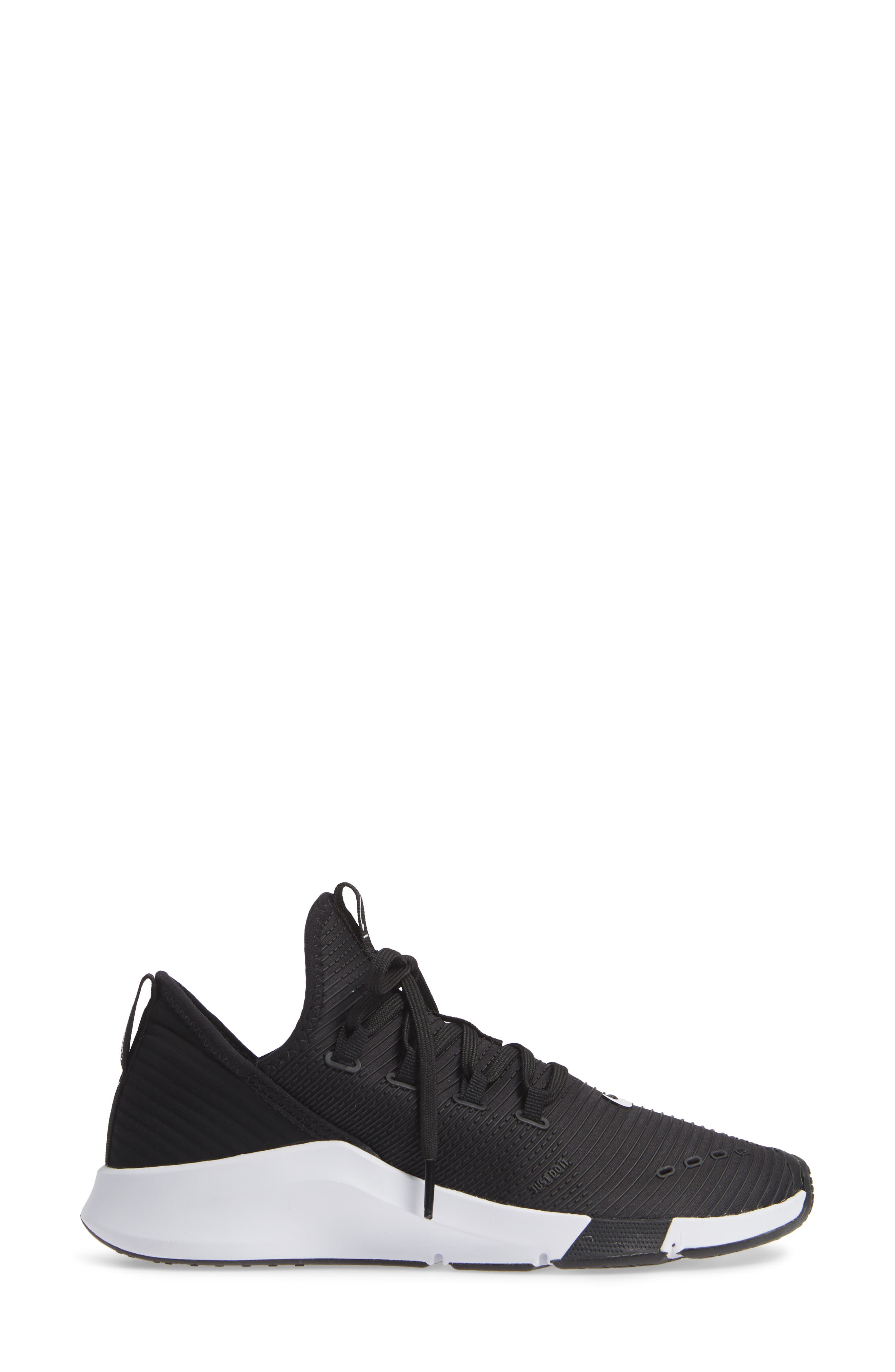 Air Zoom Elevate Training Shoe,                             Alternate thumbnail 3, color,                             BLACK/ WHITE