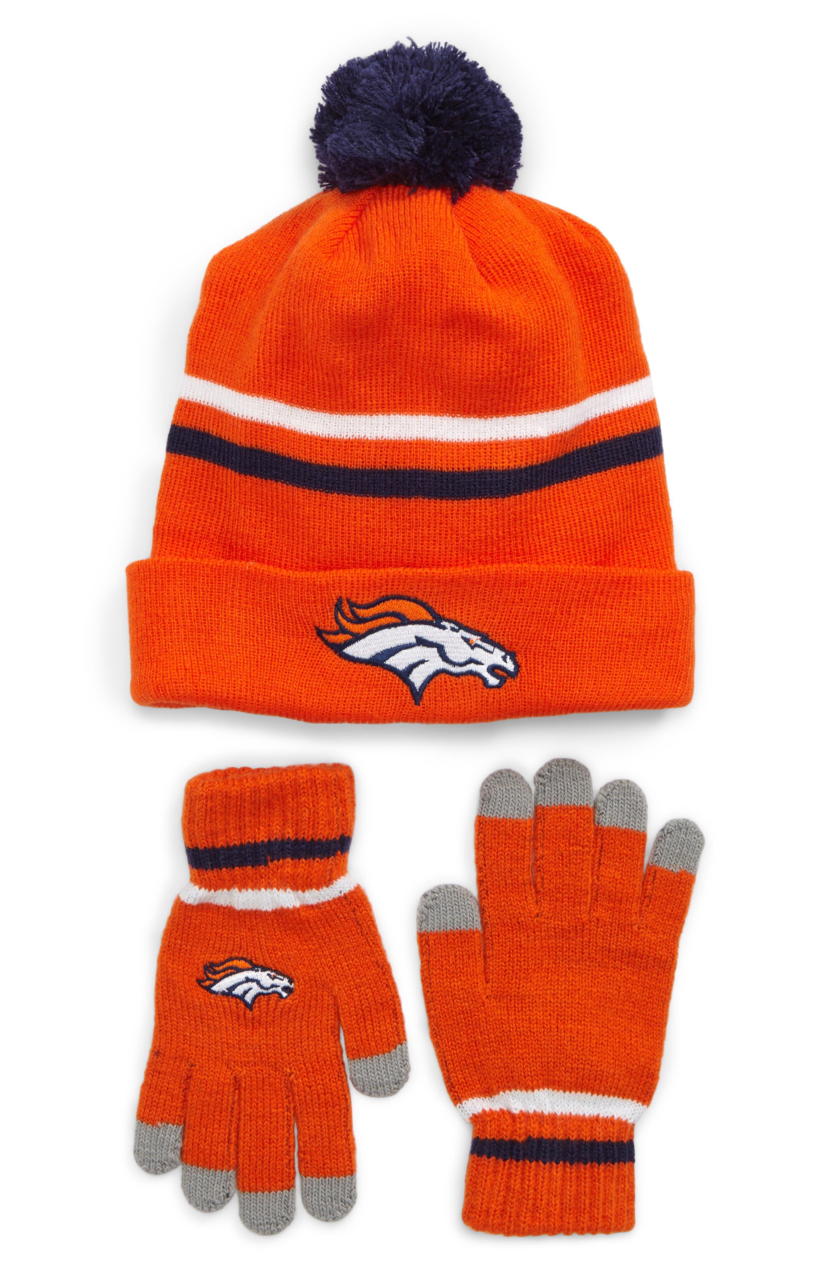 NFL Logo Pom Beanie & Tech Gloves Set,                             Main thumbnail 2, color,