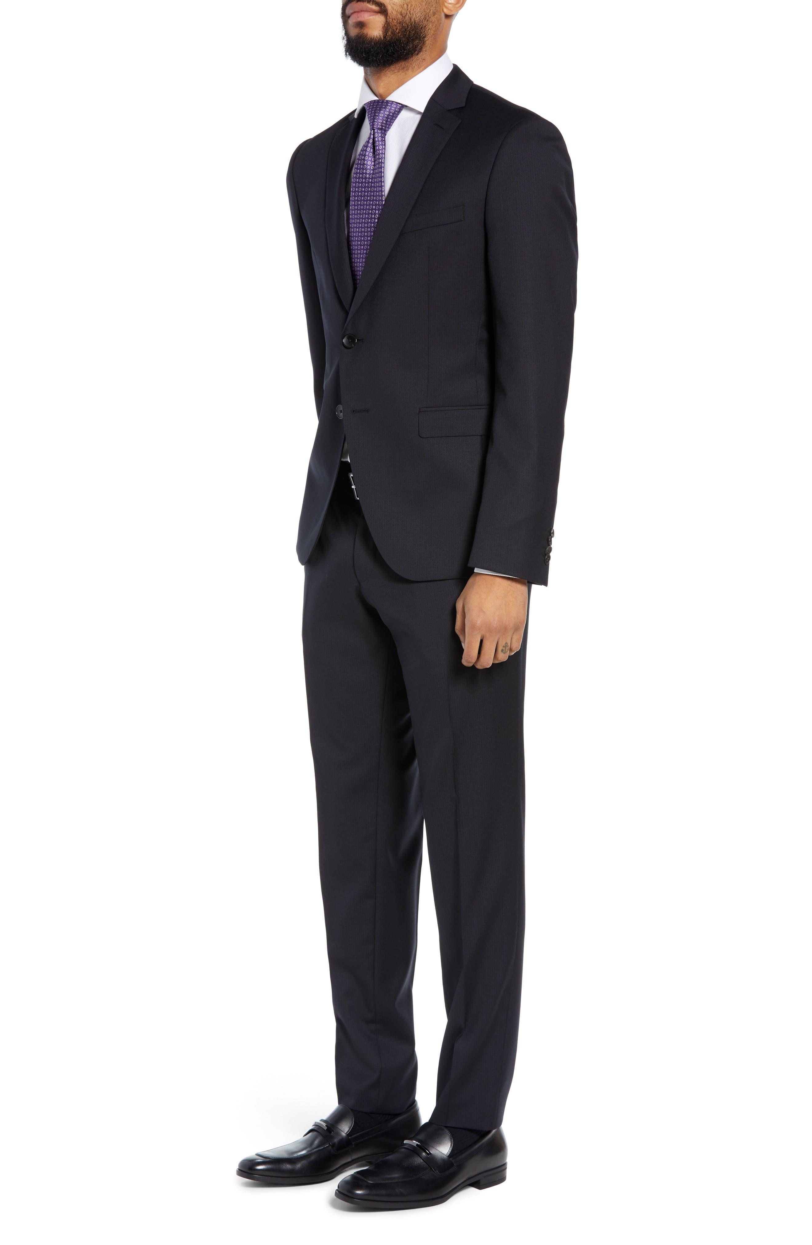 Reymond/Wenten Extra Trim Fit Solid Wool Suit,                             Alternate thumbnail 3, color,                             DARK PURPLE