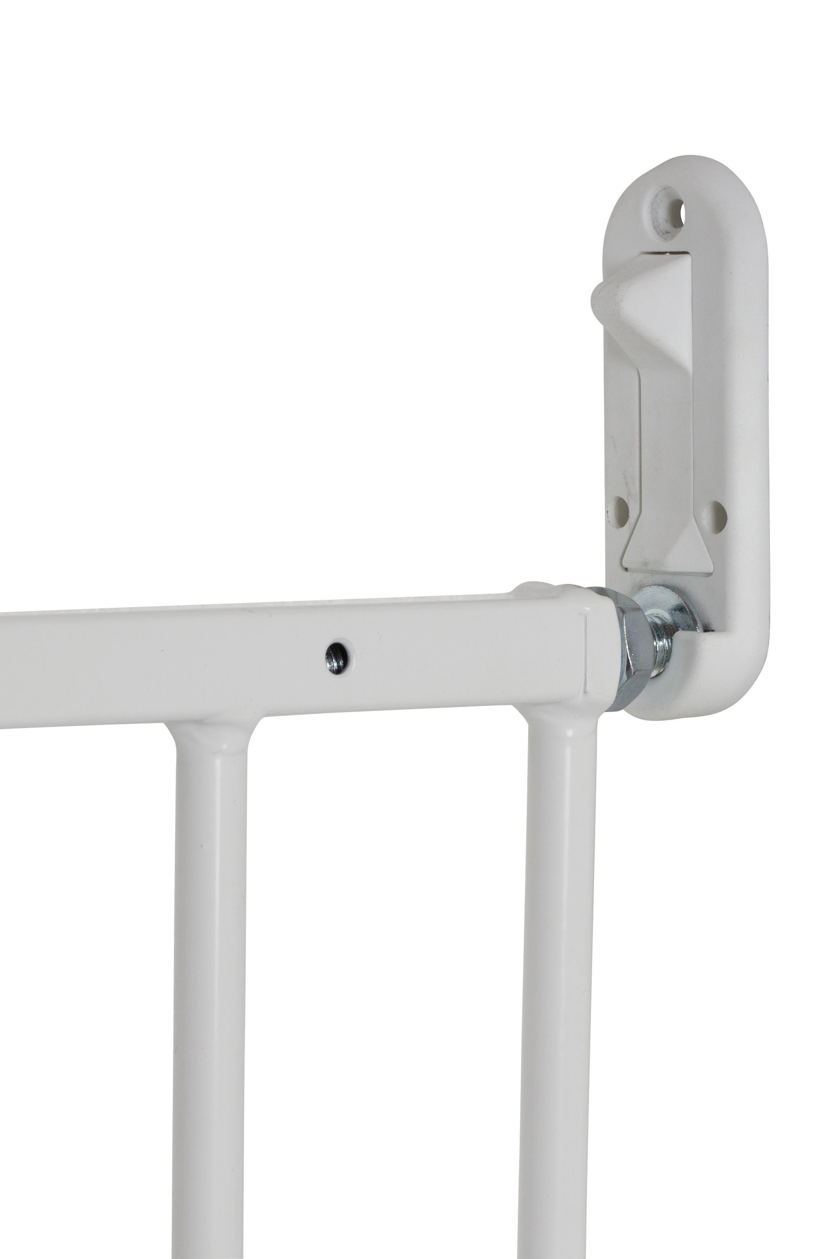MultiDan Extending Hard Mount Metal Safety Gate,                             Alternate thumbnail 2, color,                             WHITE