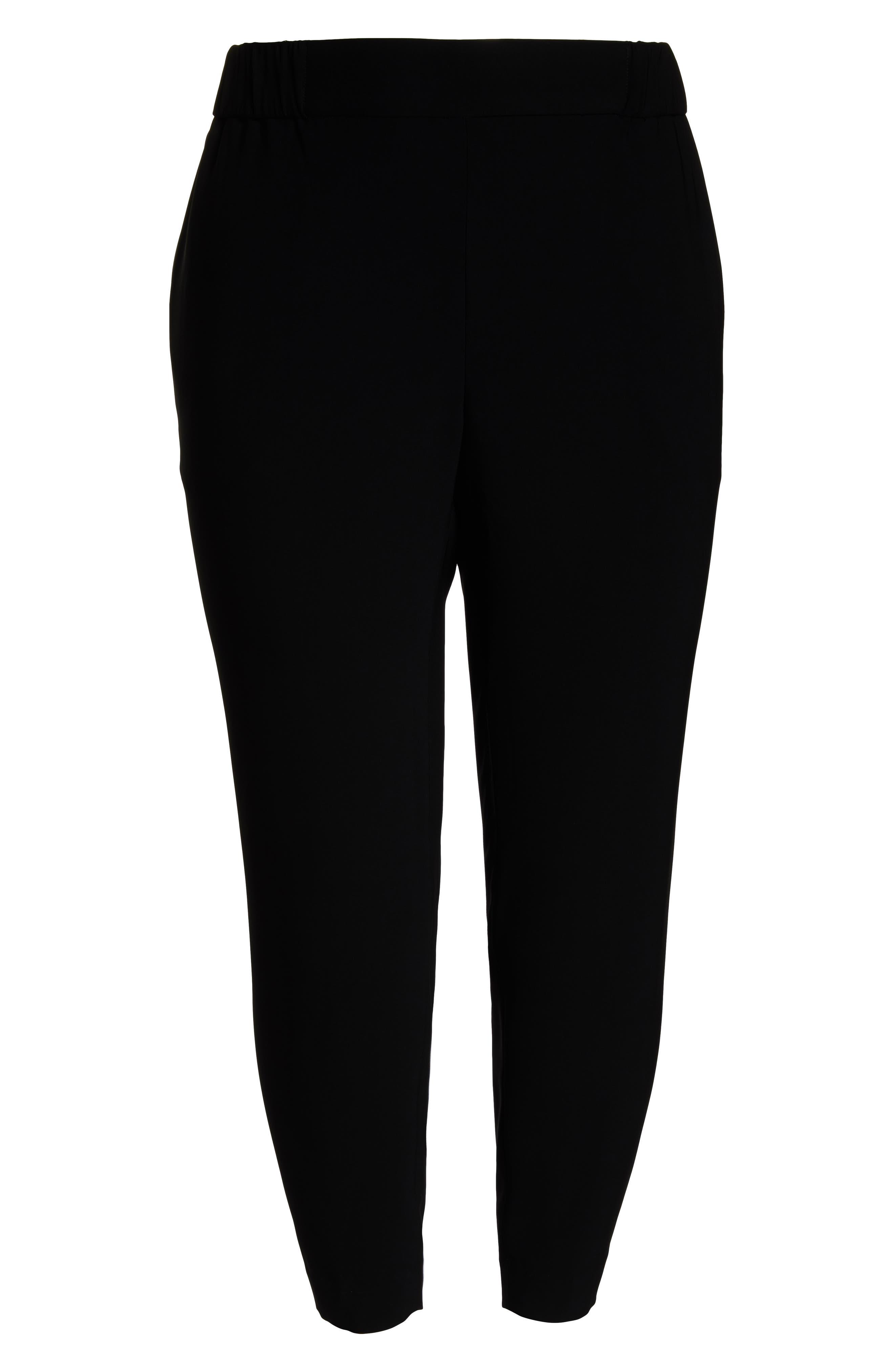 Side Seam Track Pants,                             Alternate thumbnail 6, color,                             BLACK