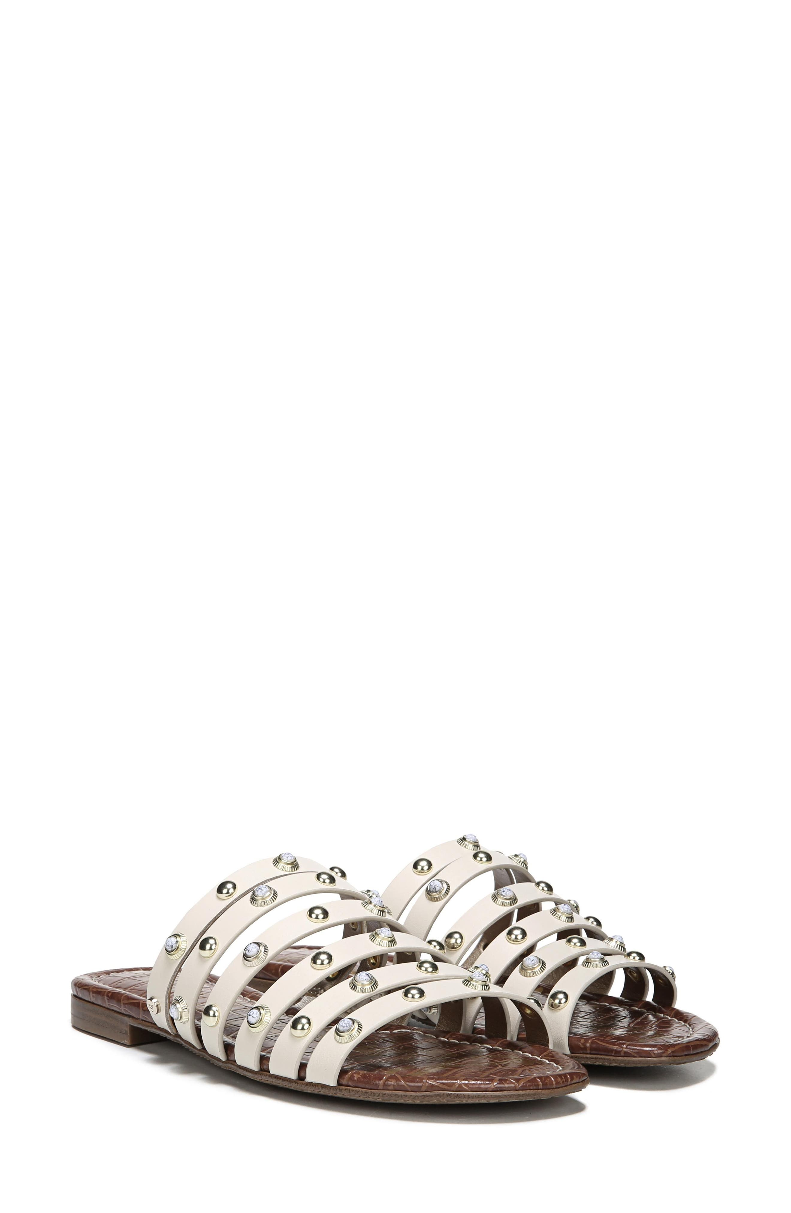 Brea Studded Slide Sandal,                             Alternate thumbnail 23, color,