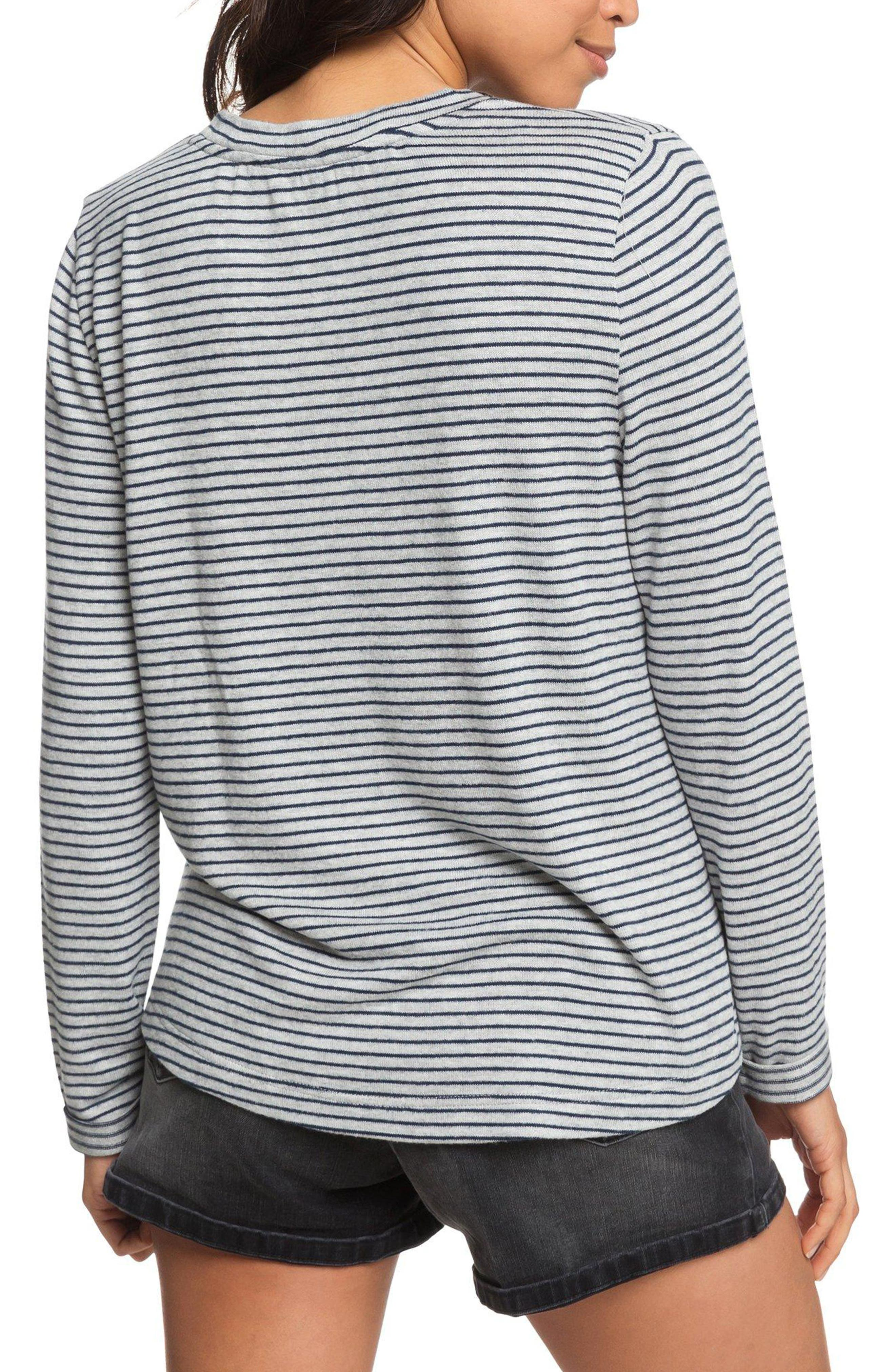 Chasing You Stripe Knit Top,                             Alternate thumbnail 2, color,                             HERITAGE HEATHER THIN STRIPES
