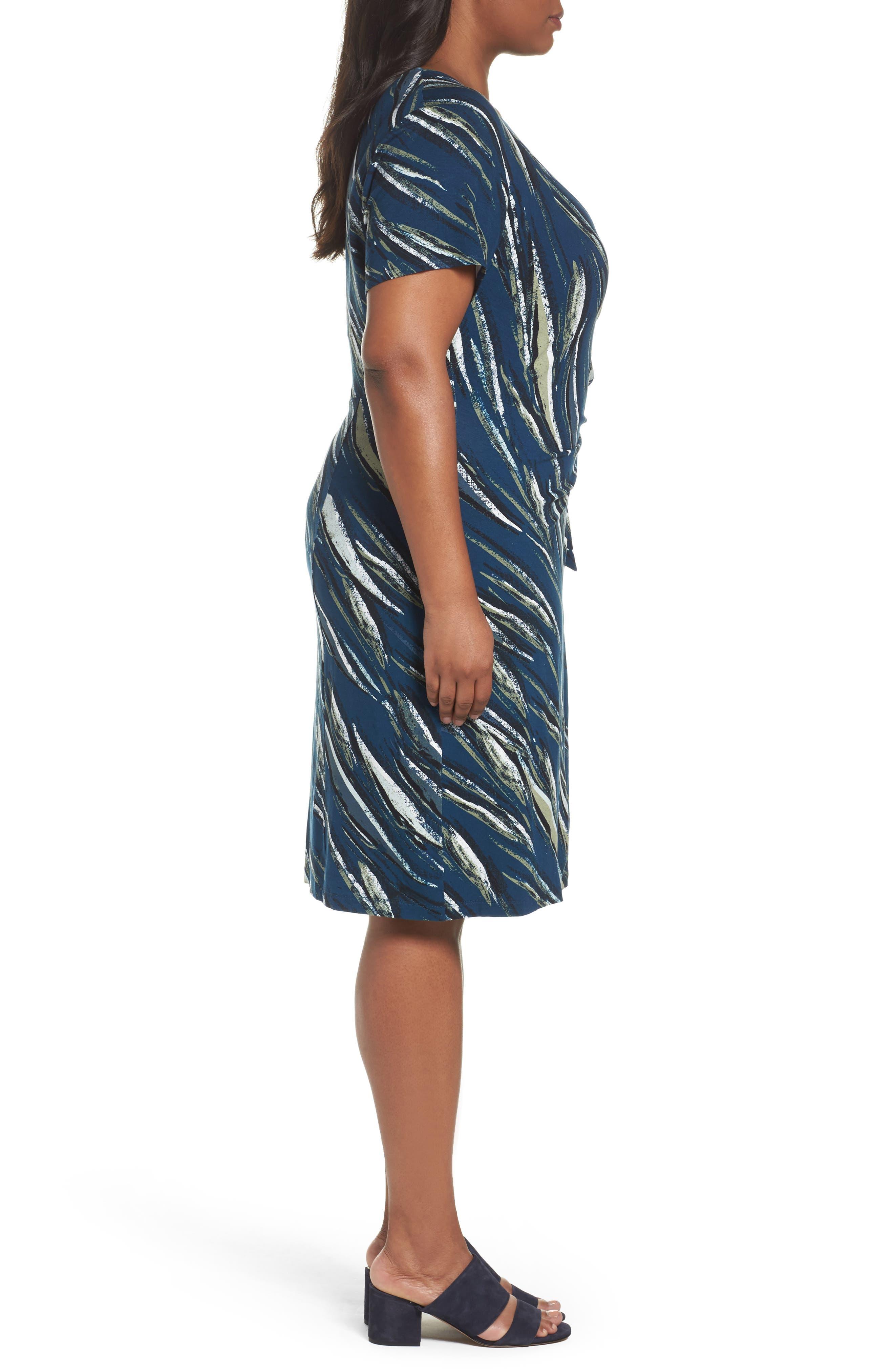 Tiger Lily Twist Front Sheath Dress,                             Alternate thumbnail 3, color,                             MULTI