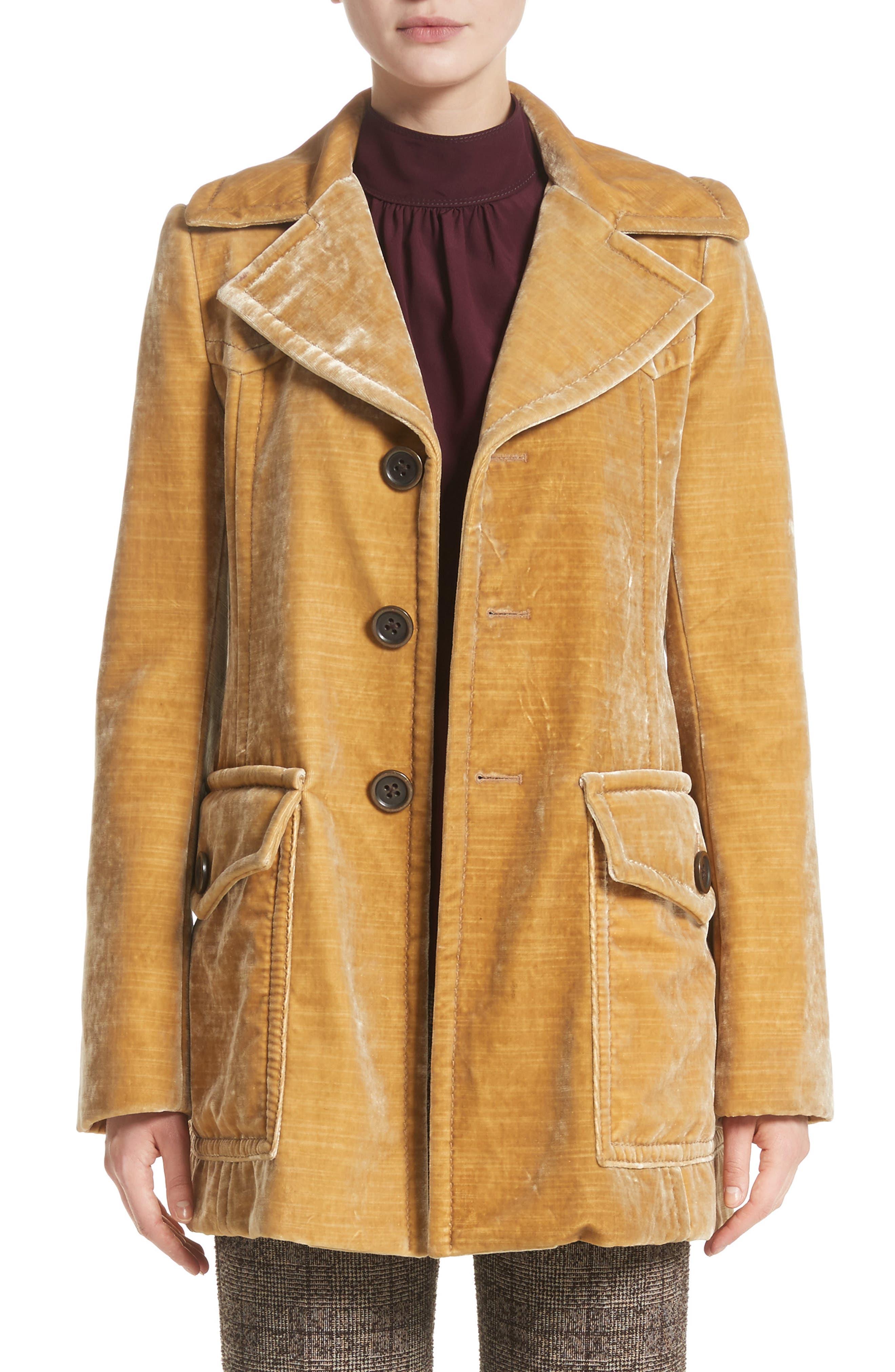 Velvet Coat,                             Main thumbnail 1, color,                             703