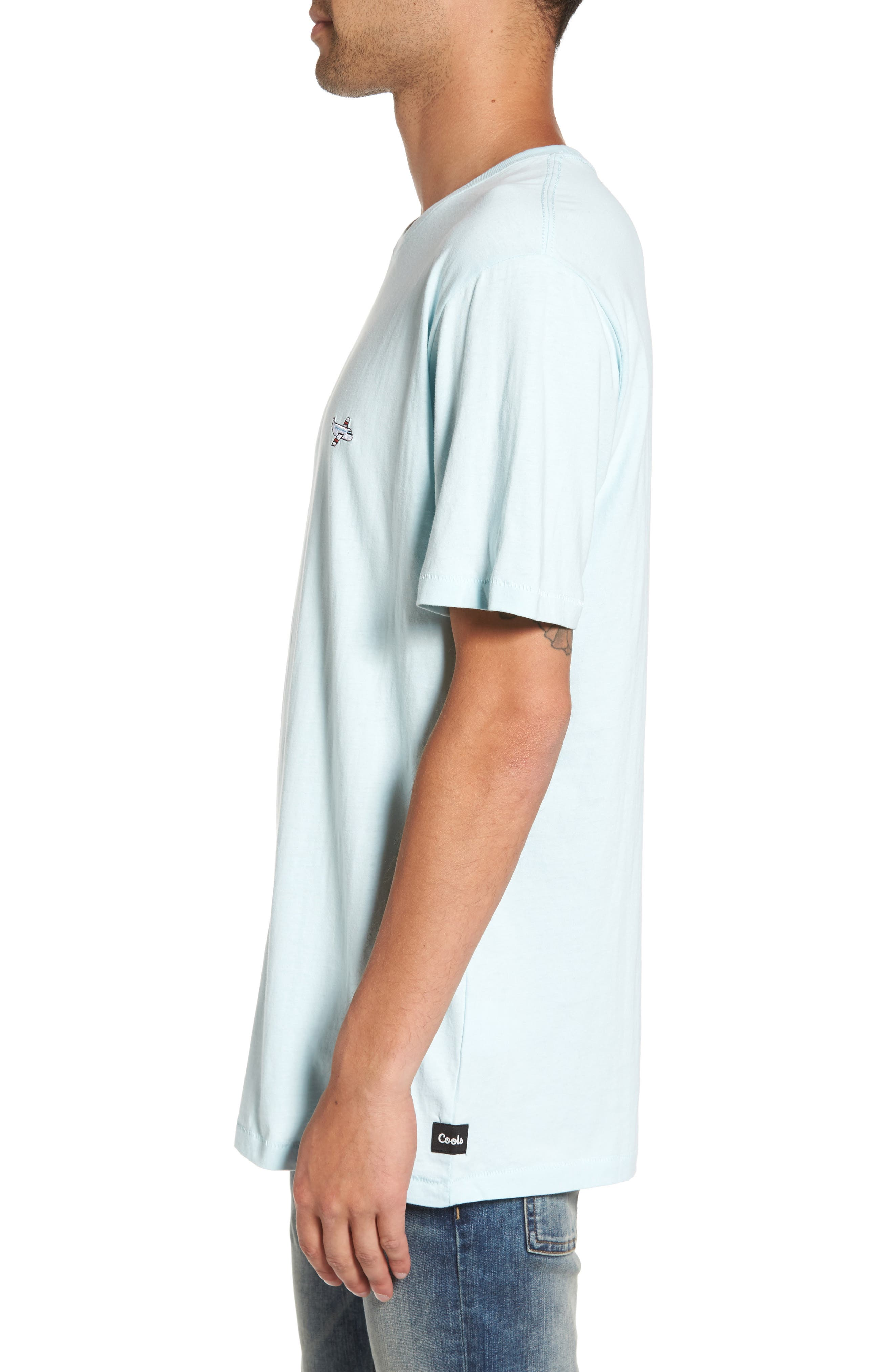 Aeroplane Appliqué T-Shirt,                             Alternate thumbnail 3, color,                             440