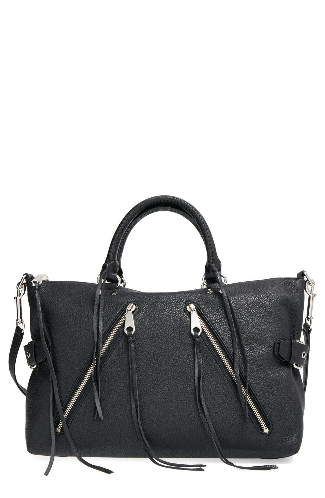 'Large Moto' Satchel,                         Main,                         color, 001