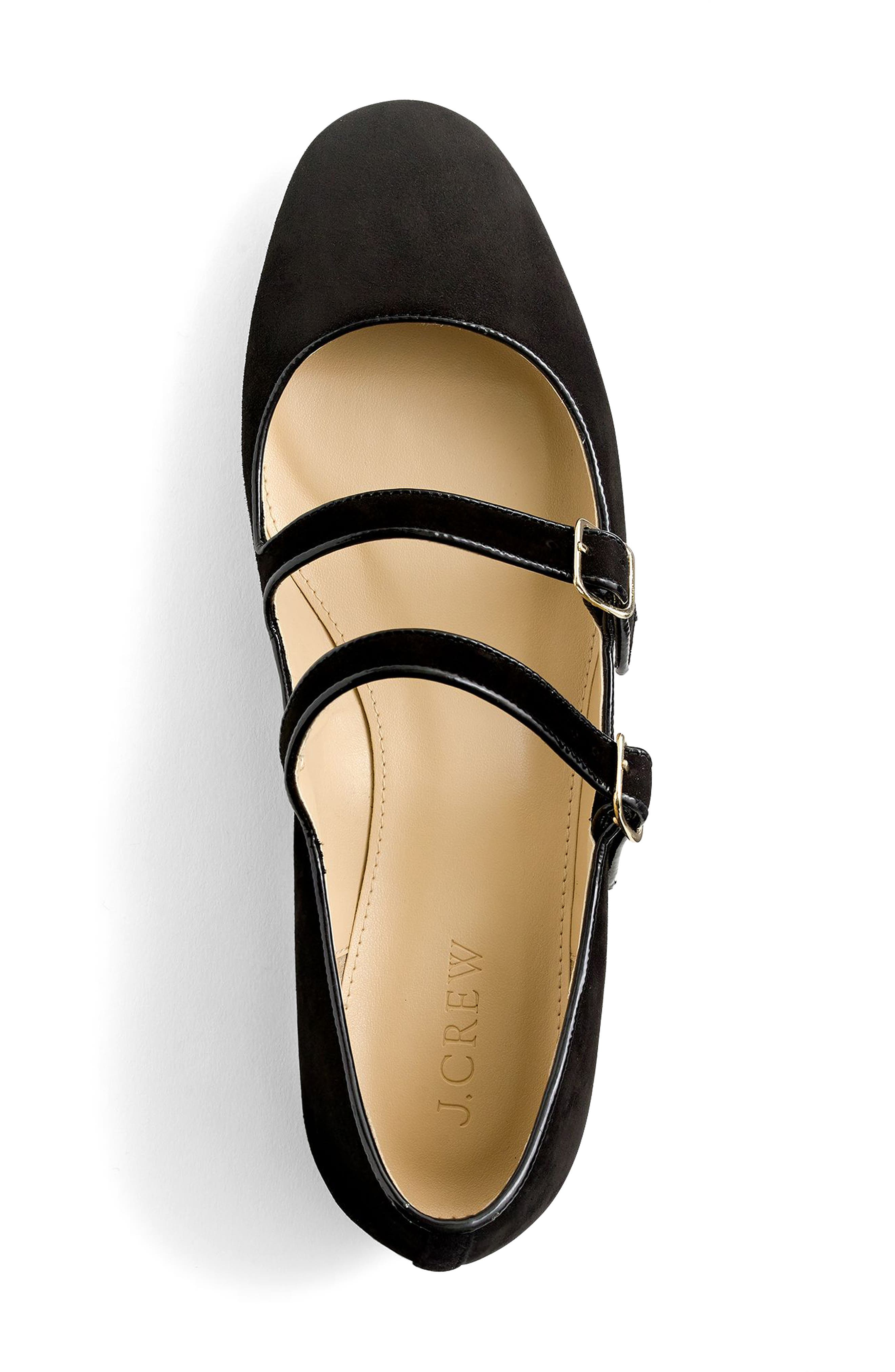 Multistrap Mary Jane Flat,                             Alternate thumbnail 3, color,                             001