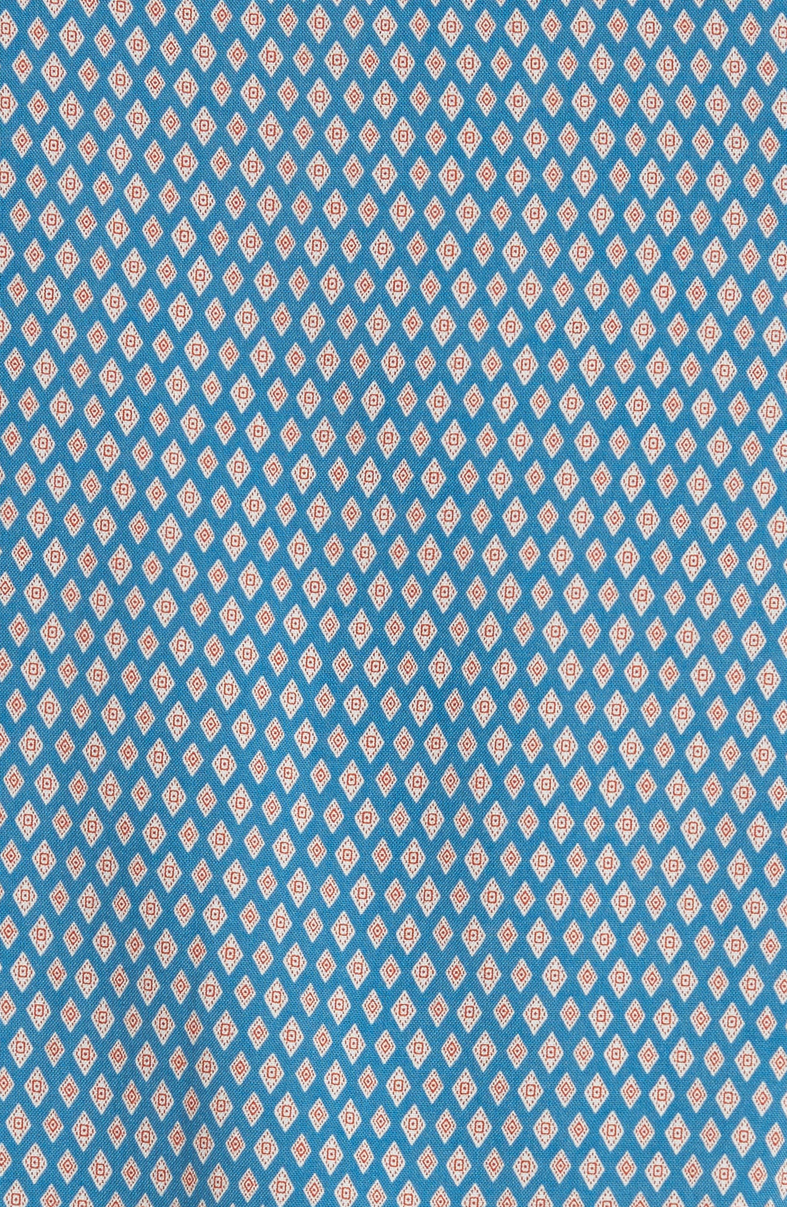 Diamond Print Camp Shirt,                             Alternate thumbnail 5, color,                             400