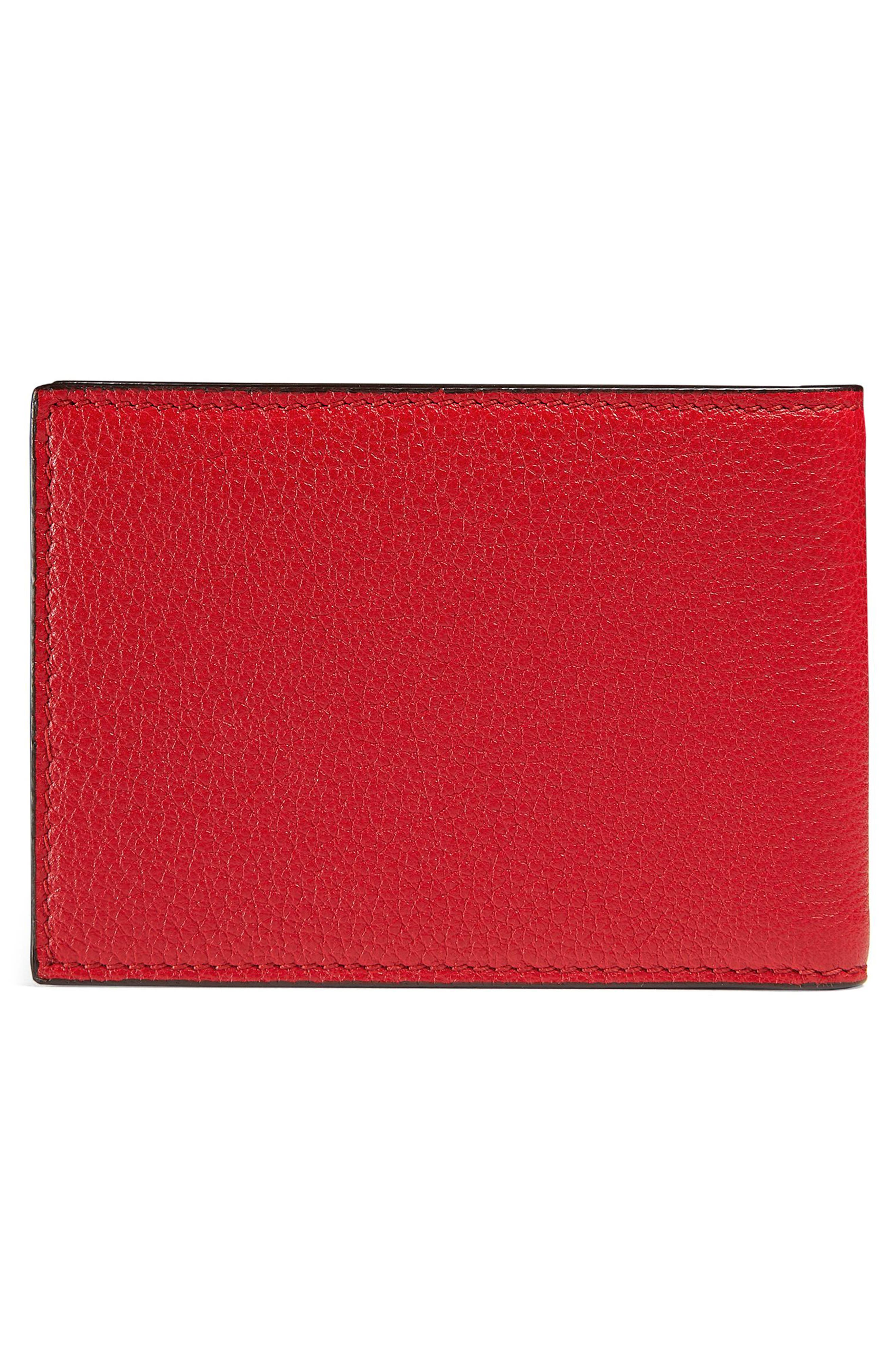 Wallet,                             Alternate thumbnail 3, color,                             RED