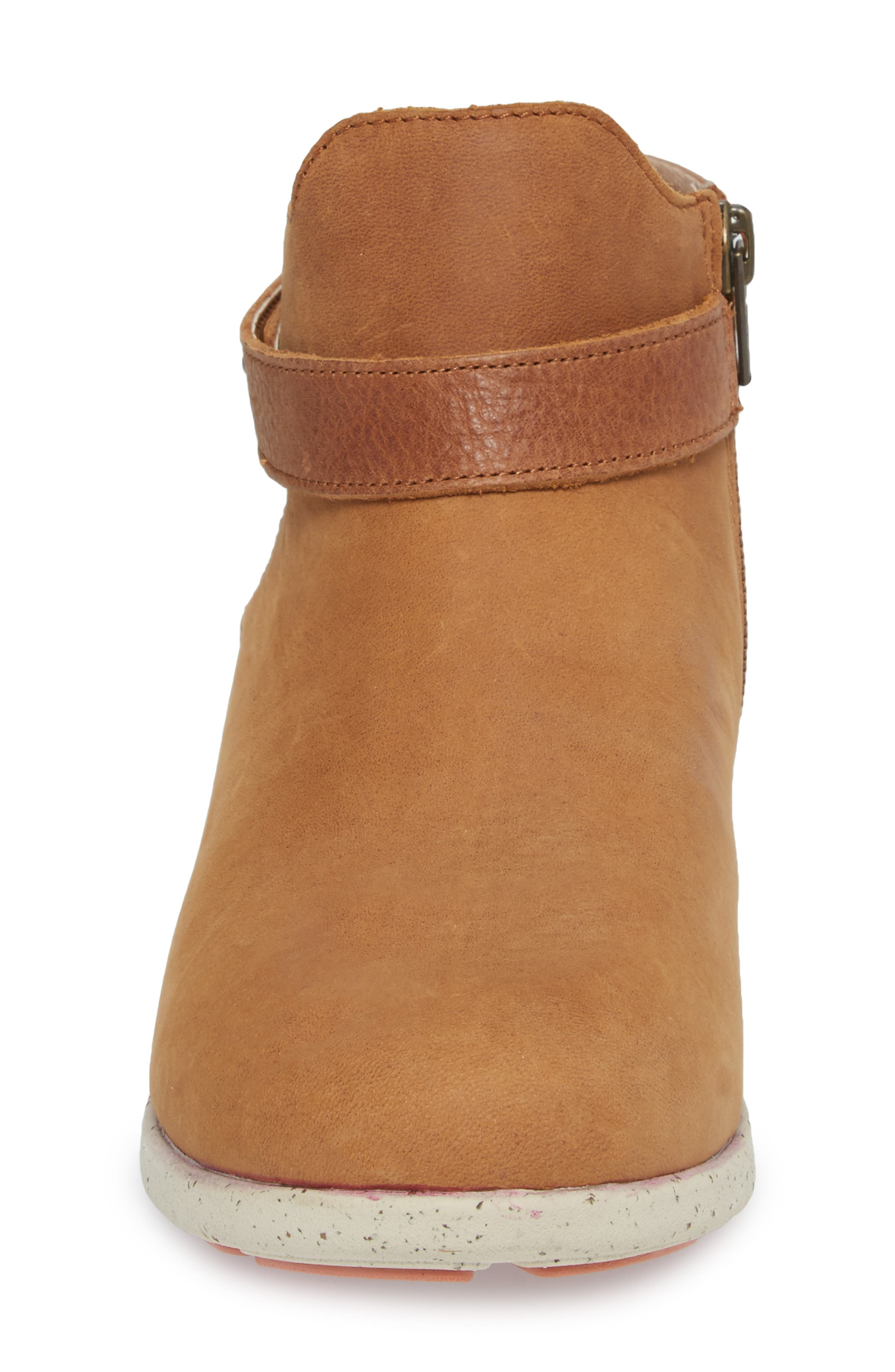 Ash Bootie,                             Alternate thumbnail 4, color,                             BROWN LEATHER