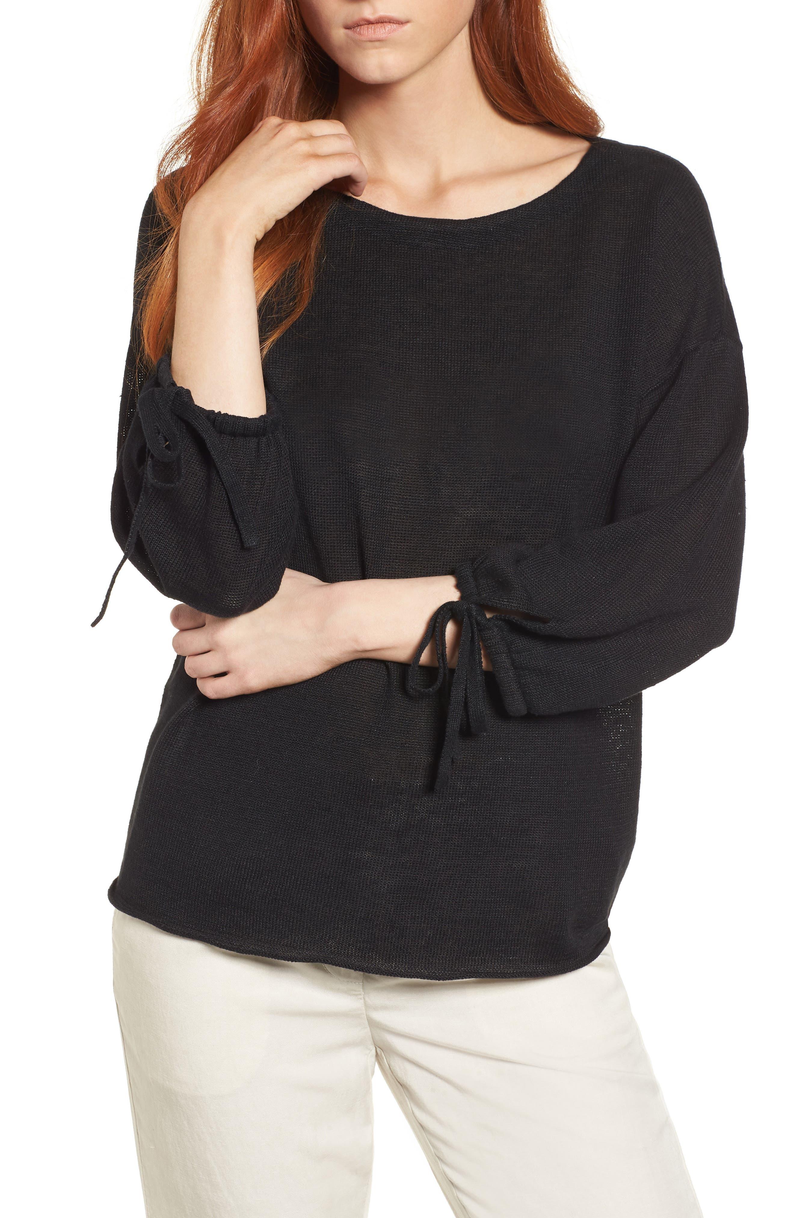 Organic Linen Sweater,                         Main,                         color,