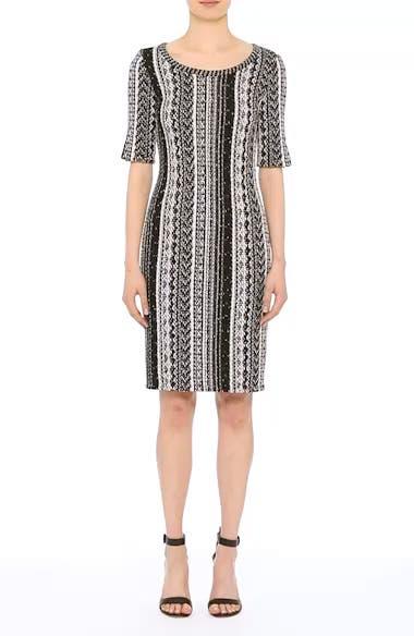 Ombré Stripe Tweed Knit Dress, video thumbnail