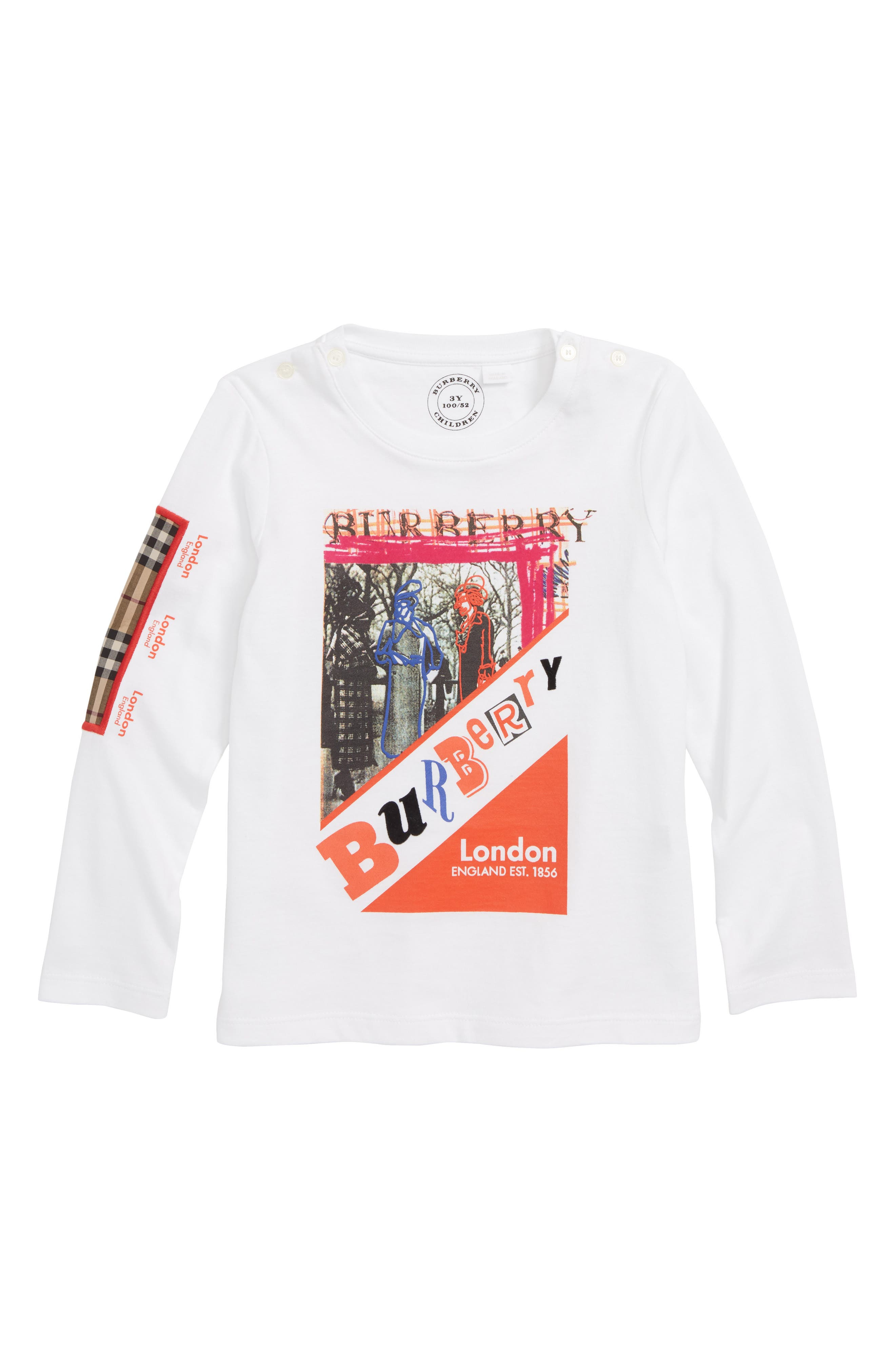Sweet Wrap Graphic Tee,                             Main thumbnail 1, color,                             WHITE