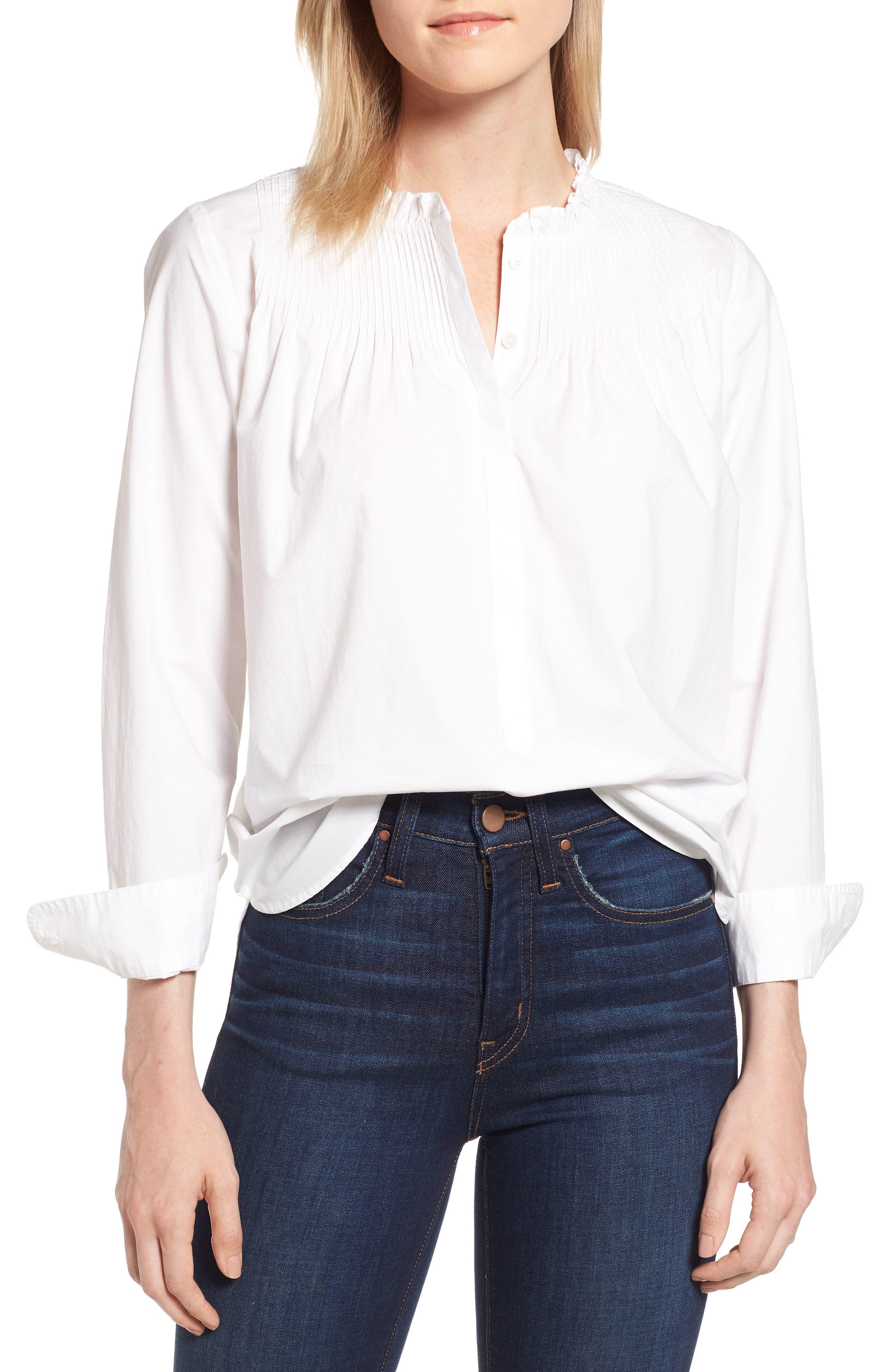 Ruffle Popover Shirt,                         Main,                         color, 101
