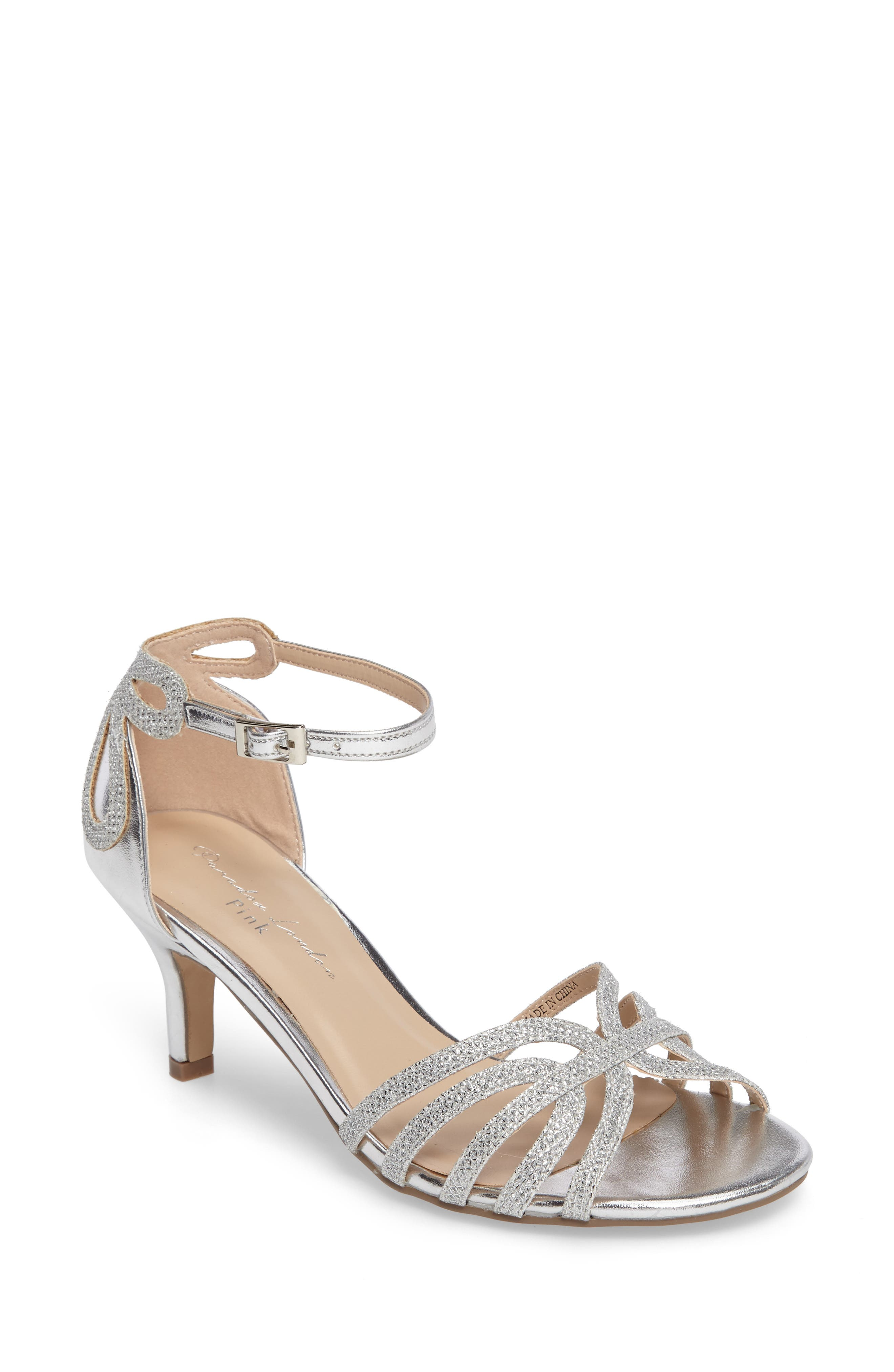 Melby Ankle Strap Sandal,                             Main thumbnail 1, color,                             SILVER