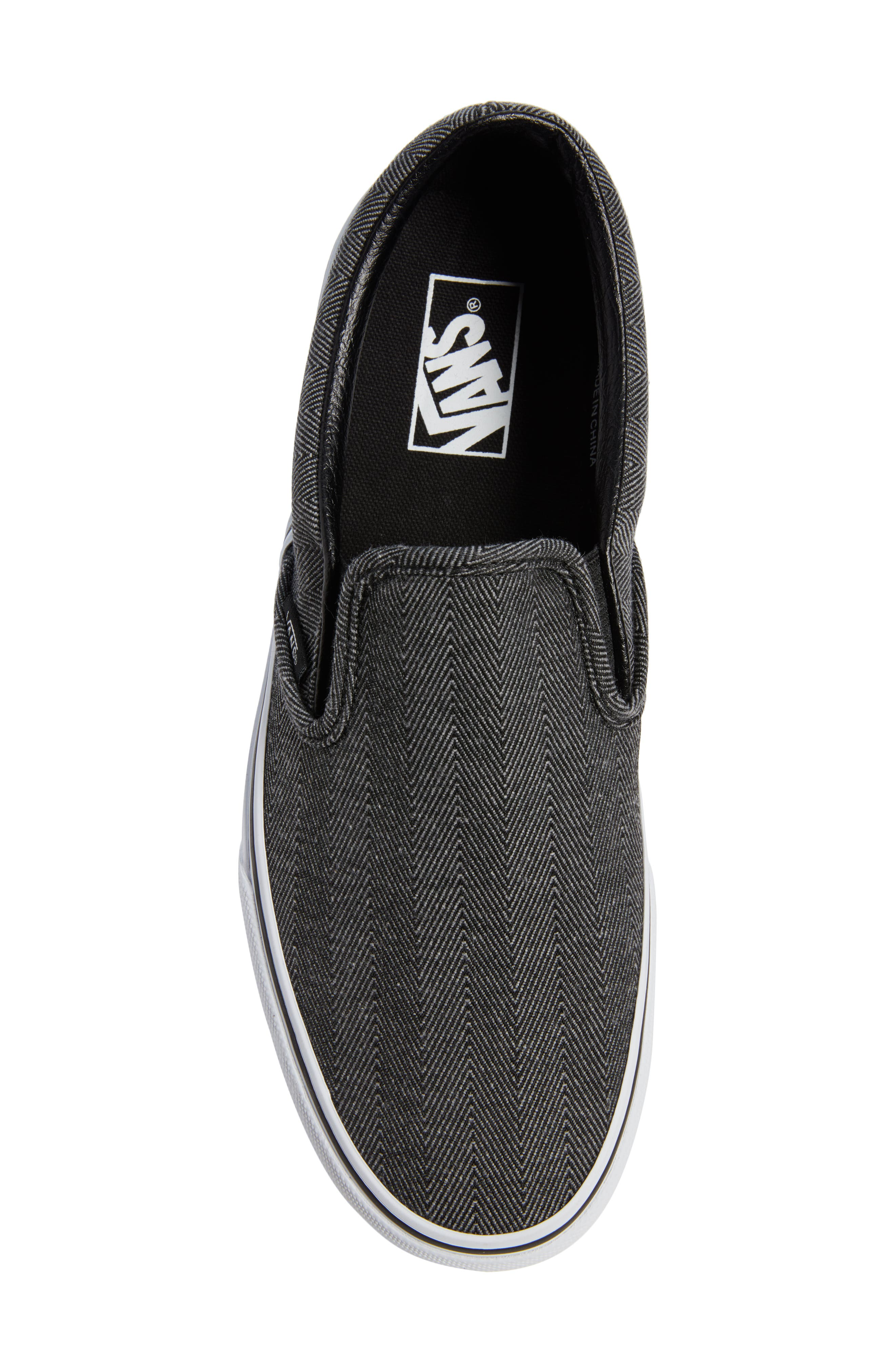 'Classic' Slip-On Sneaker,                             Alternate thumbnail 5, color,                             019