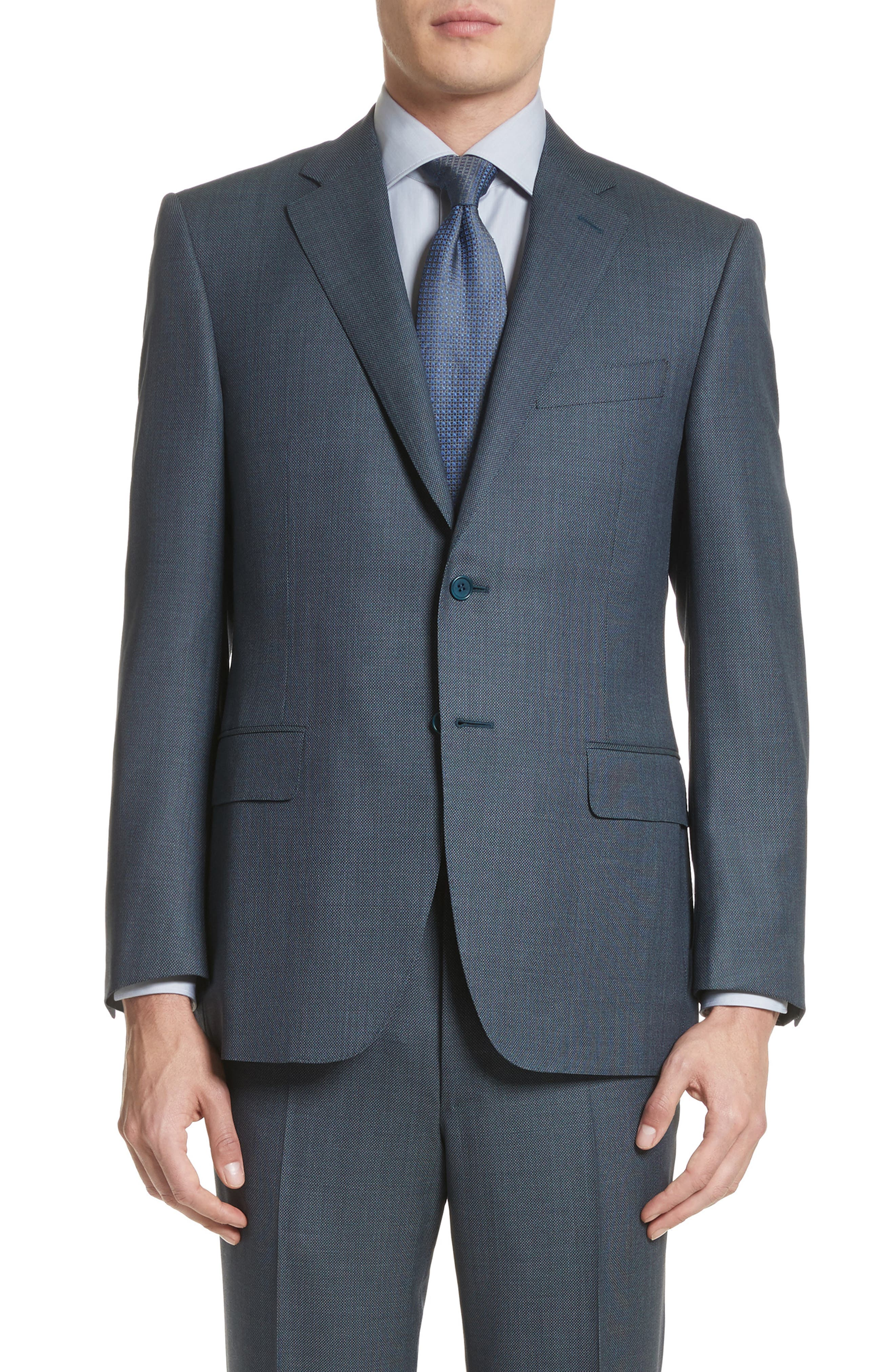 Classic Fit Solid Wool Suit,                             Alternate thumbnail 5, color,                             420
