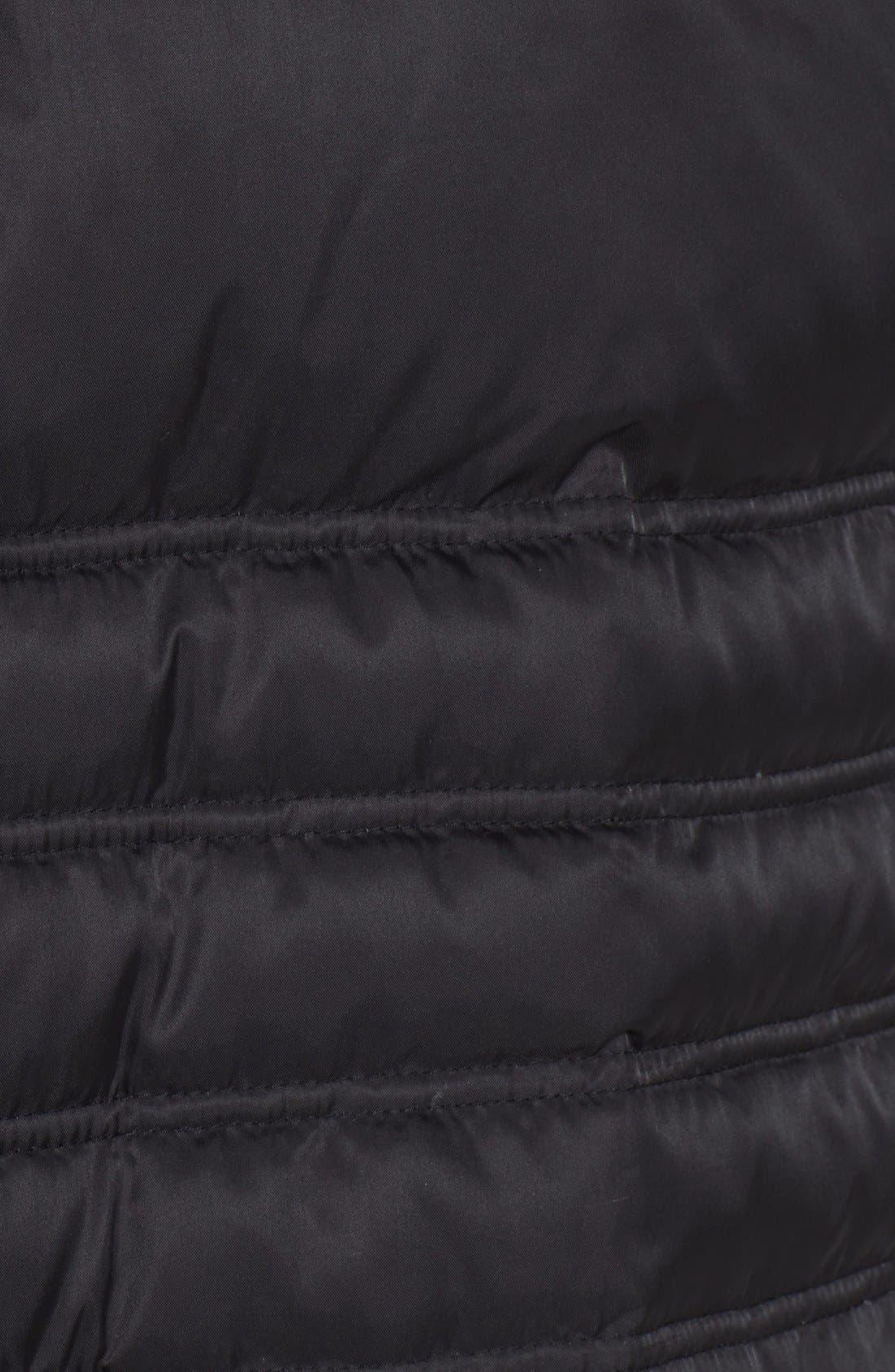 Faux Fur Trim Puffer Coat,                             Alternate thumbnail 4, color,                             001
