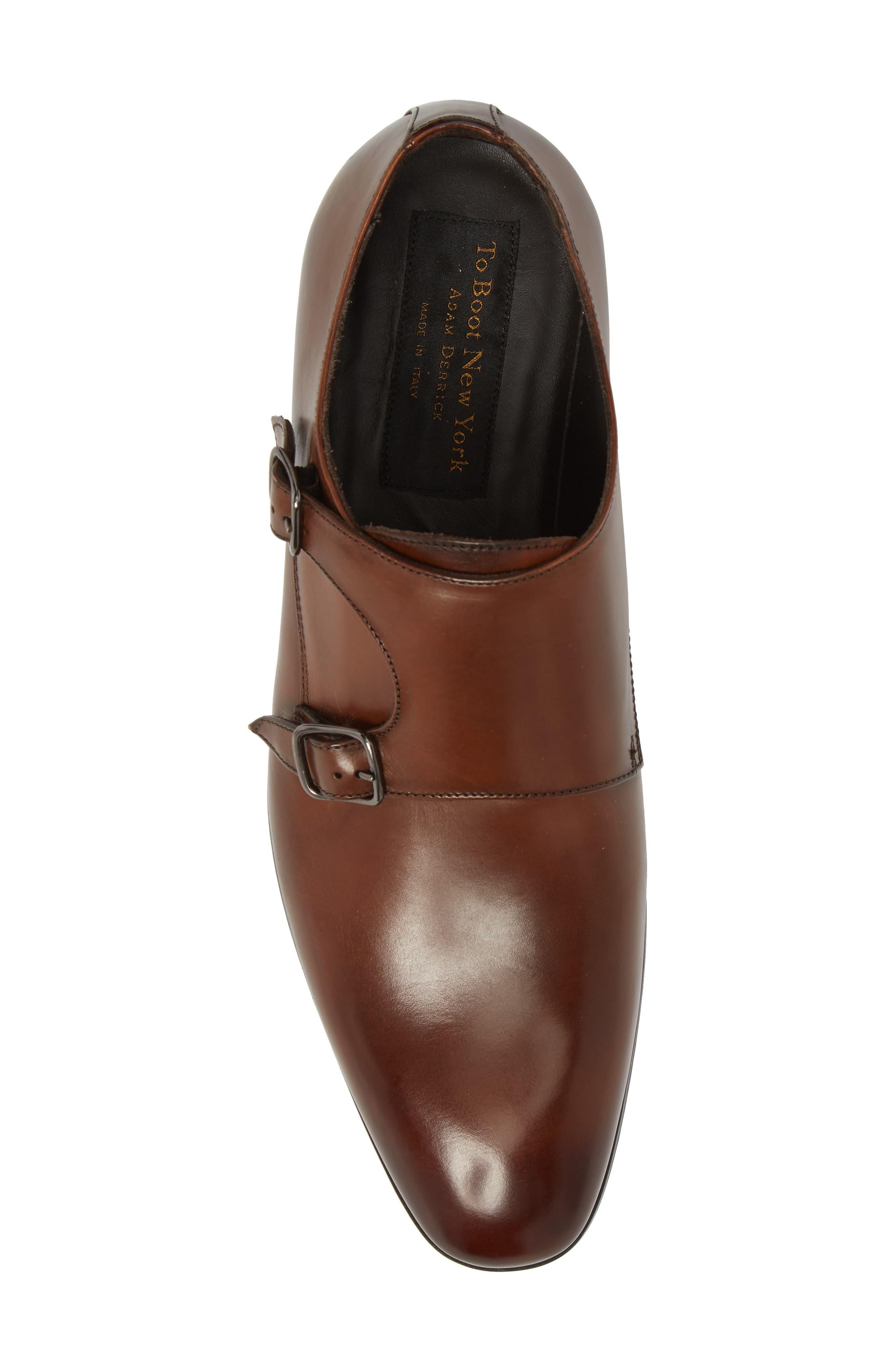 Benjamin Double Monk Strap Shoe,                             Alternate thumbnail 5, color,                             TMORO LEATHER