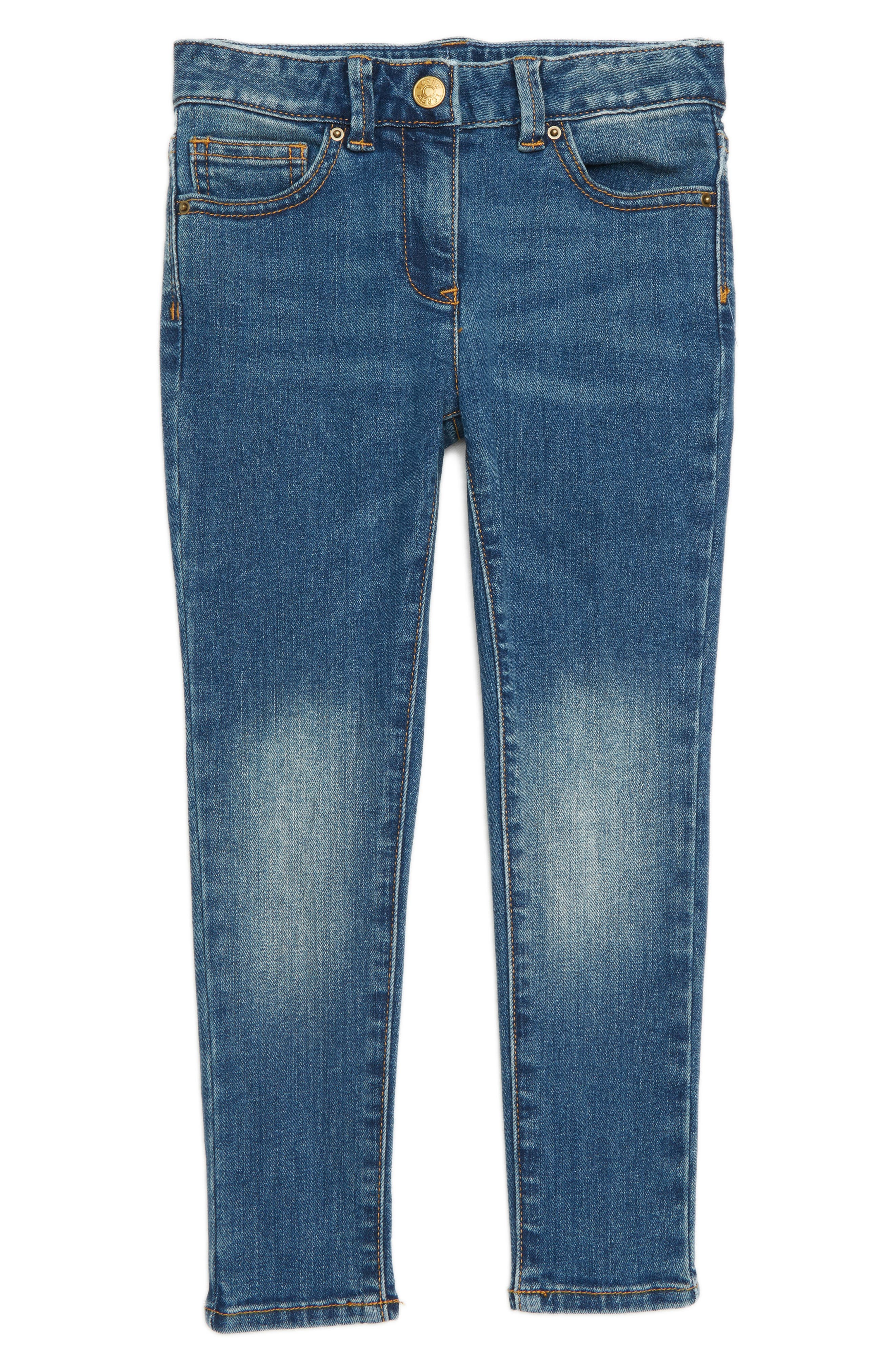 Stretch Toothpick Jeans,                         Main,                         color, 400