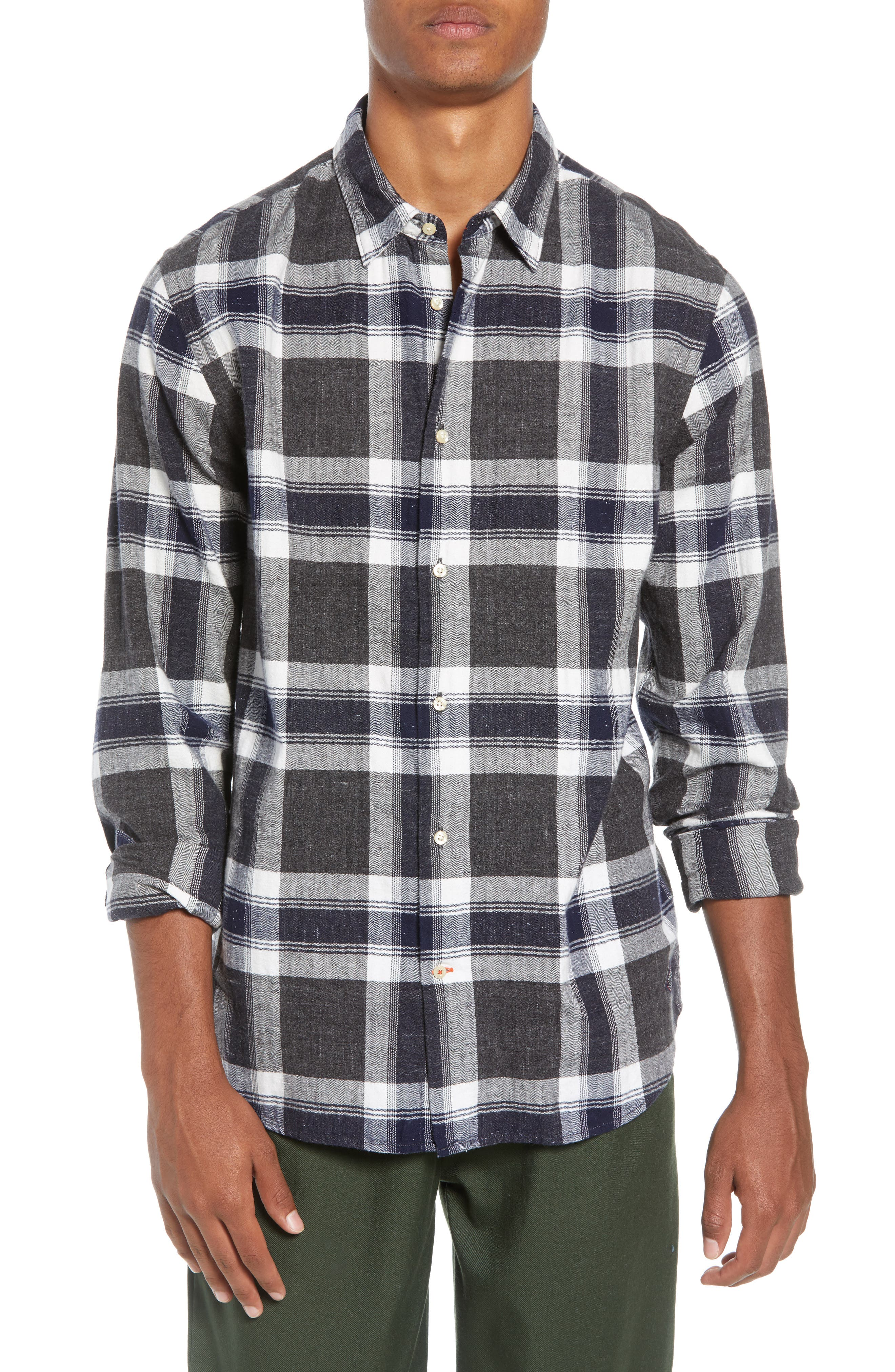 Herringbone Plaid Shirt,                             Main thumbnail 1, color,                             COMBO F