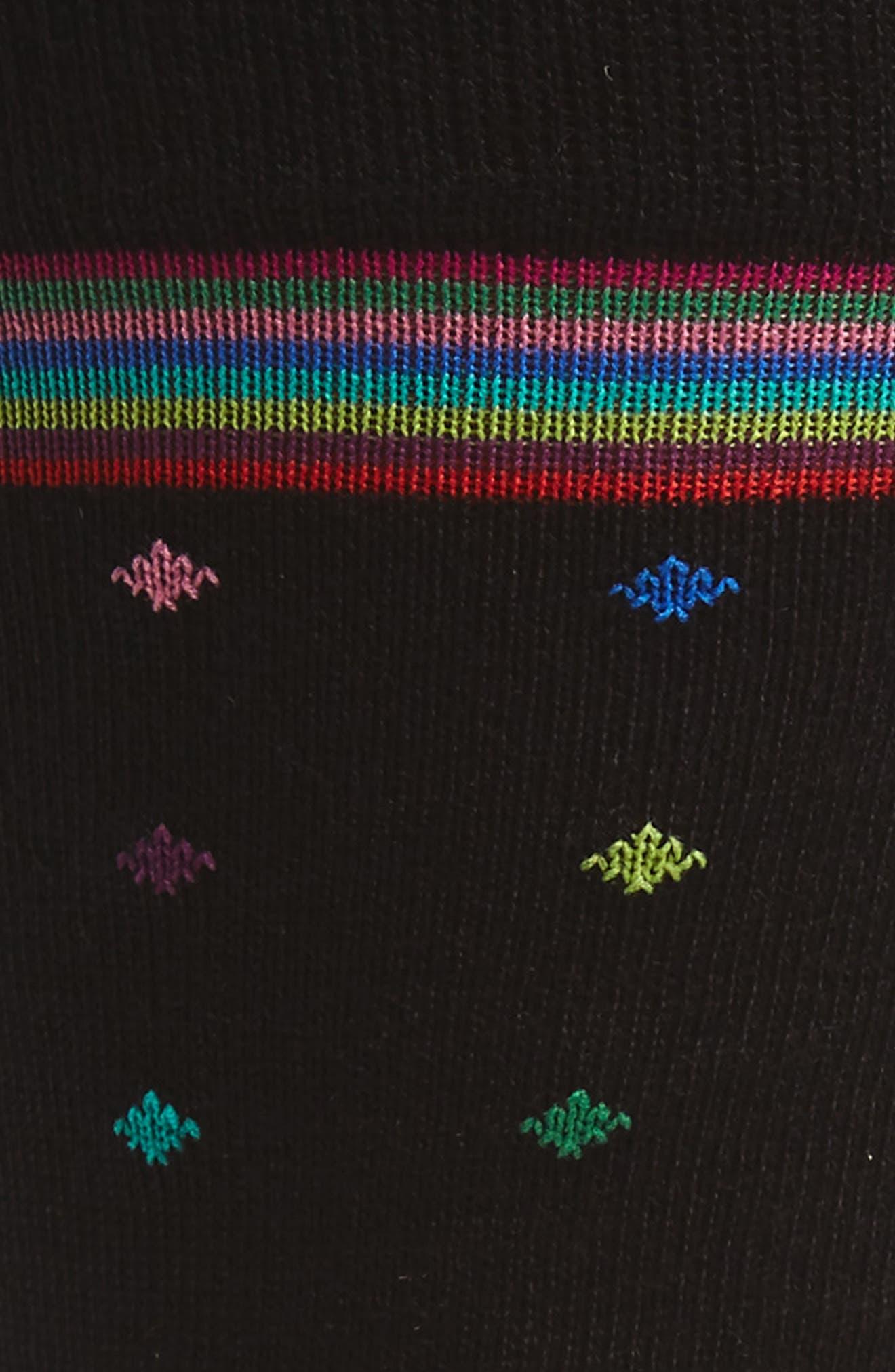Diamond Stripe Socks,                             Alternate thumbnail 2, color,                             001