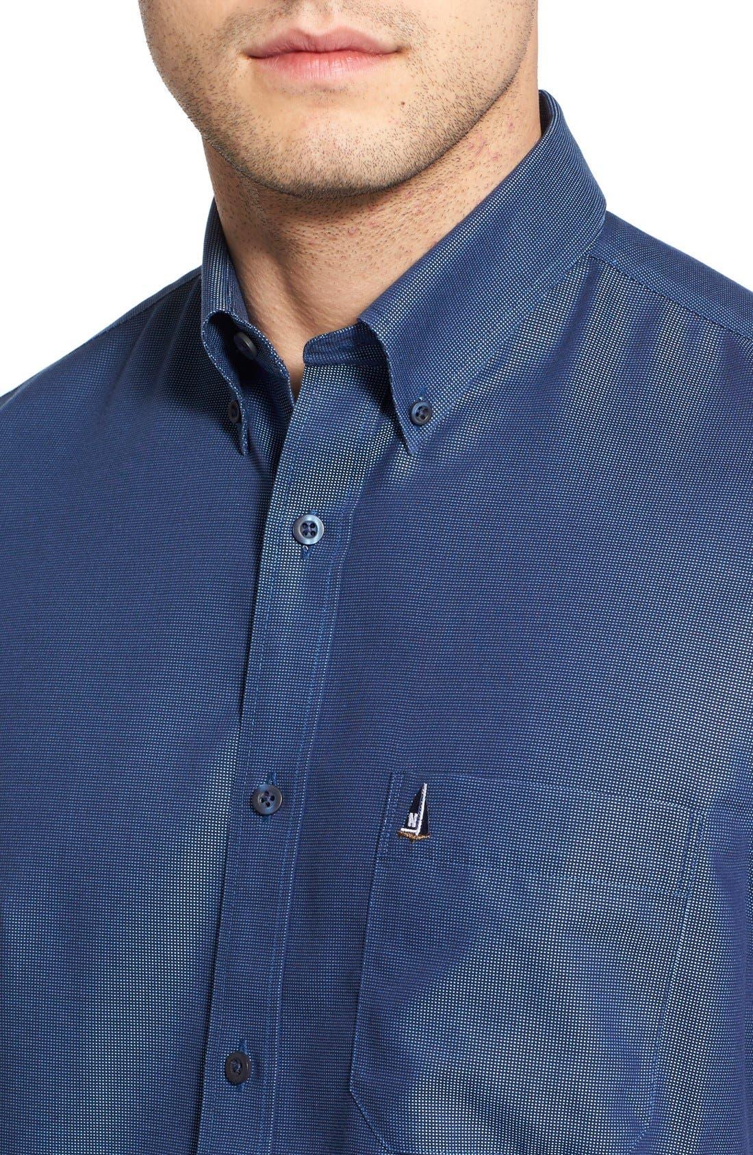 'Classic' Smartcare<sup>™</sup> Regular Fit Short Sleeve Cotton Sport Shirt,                             Alternate thumbnail 85, color,