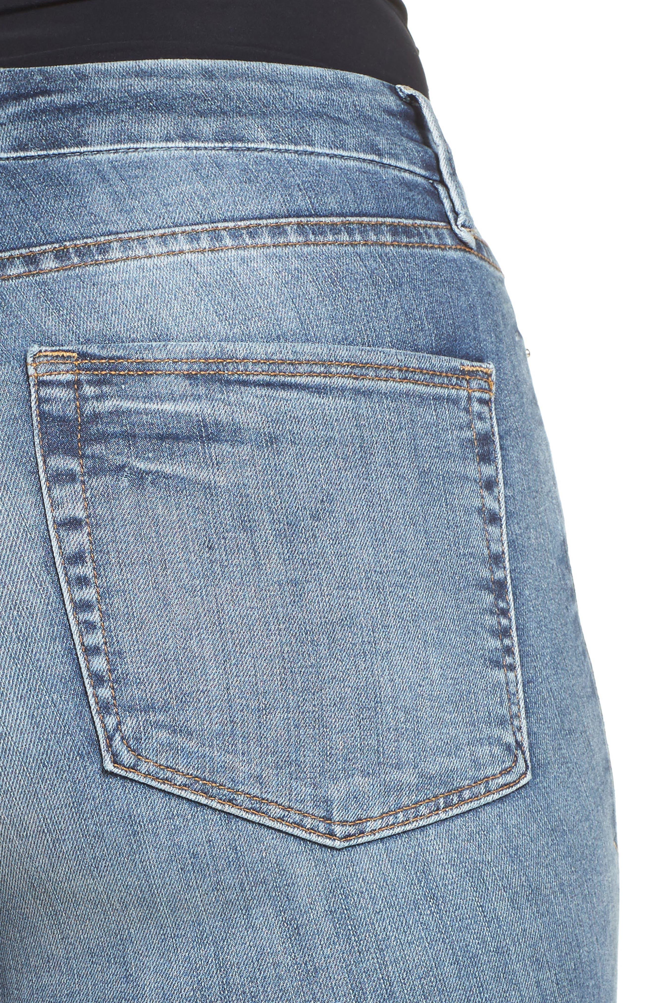 Good Legs High Rise Released Hem Skinny Jeans,                             Alternate thumbnail 4, color,                             402
