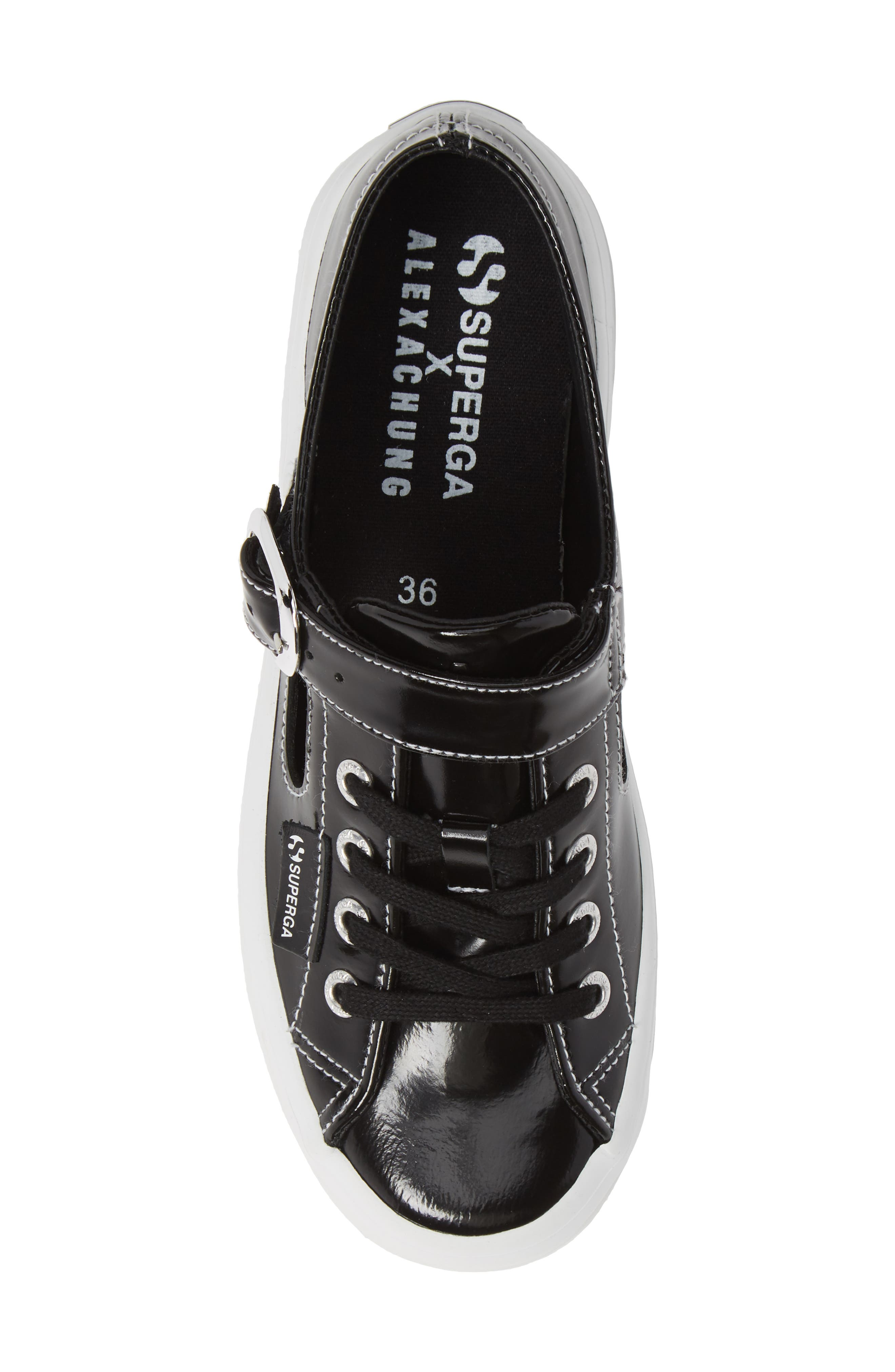 x Alexa Chung 2254 Alpinaleapatentw Platform Sneaker,                             Alternate thumbnail 5, color,                             BLACK